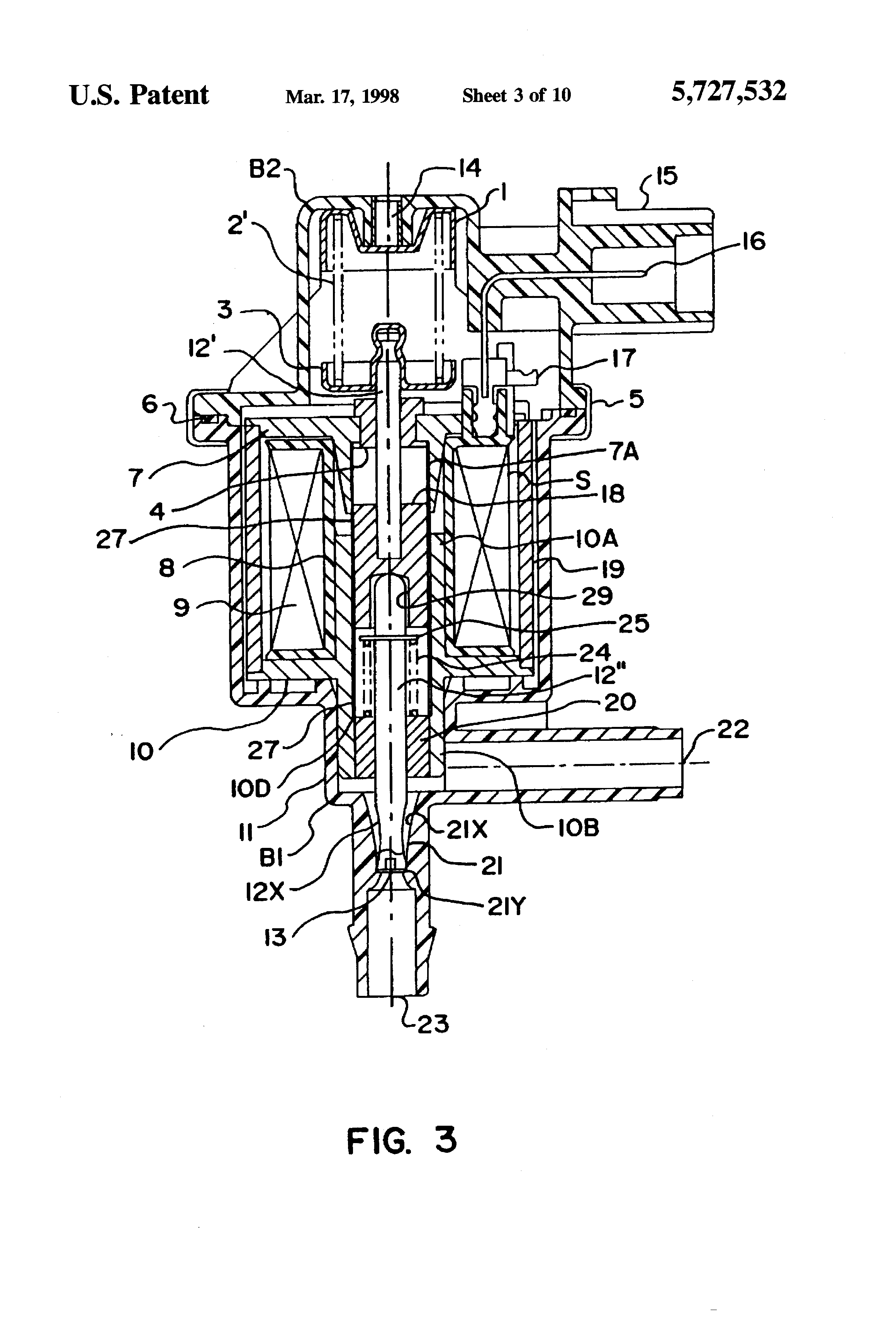 Patent Us5727532 Canister Purge System Having Improved
