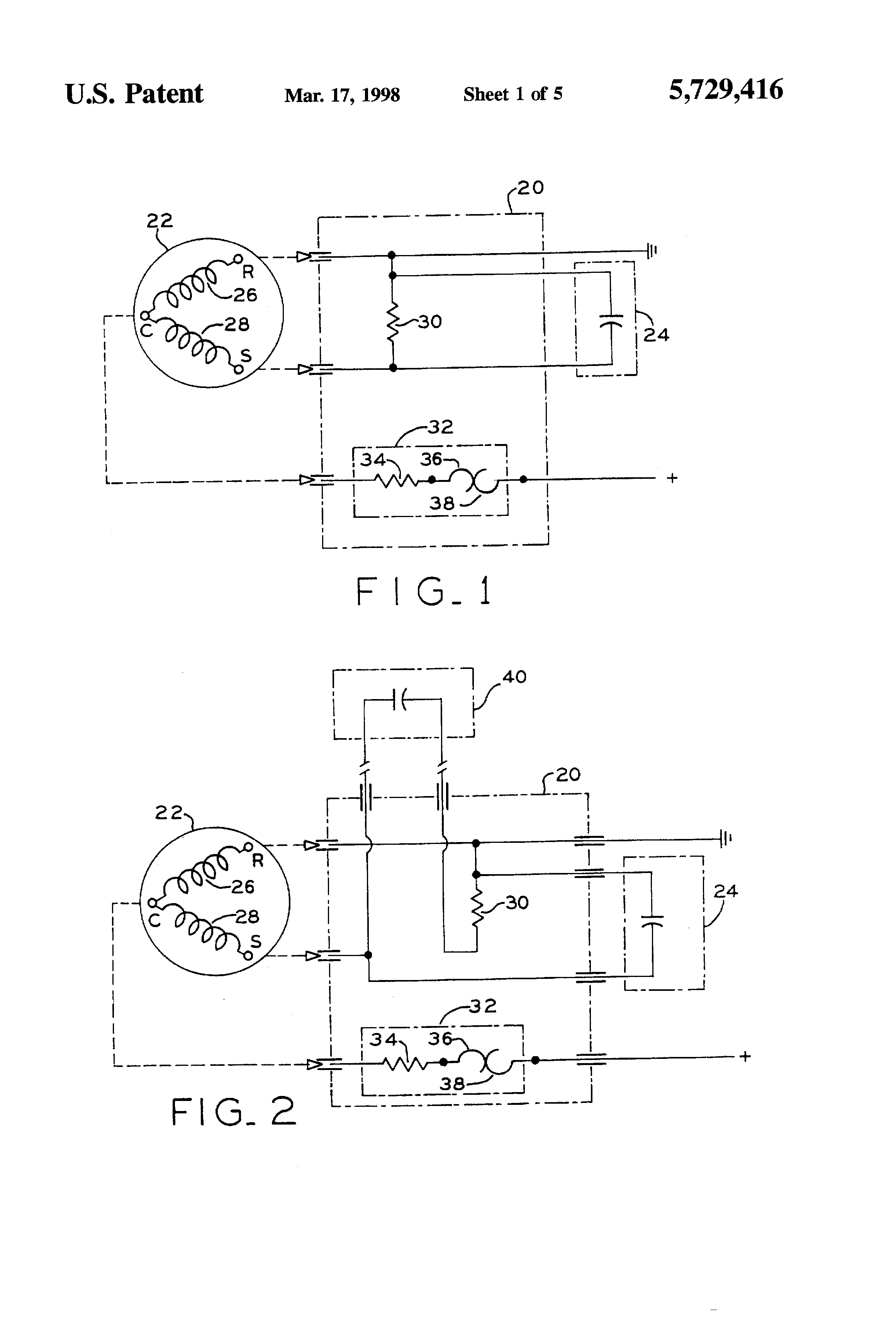 Patent Us5729416 Motor Starter And Protector Module Google Patents Schematic Diagram Of Disk Dynamo Drawing
