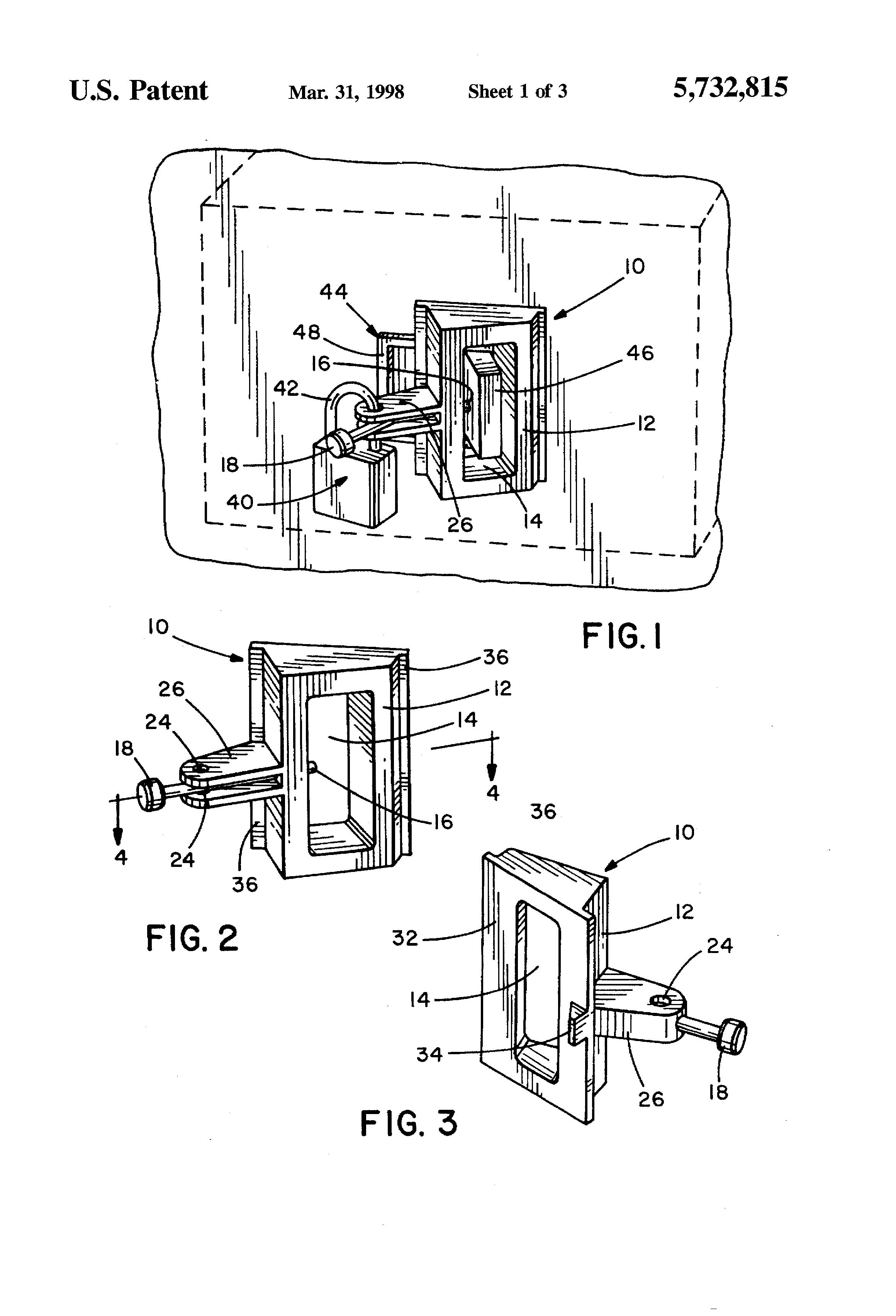 patent us5732815 - circuit breaker lockout device