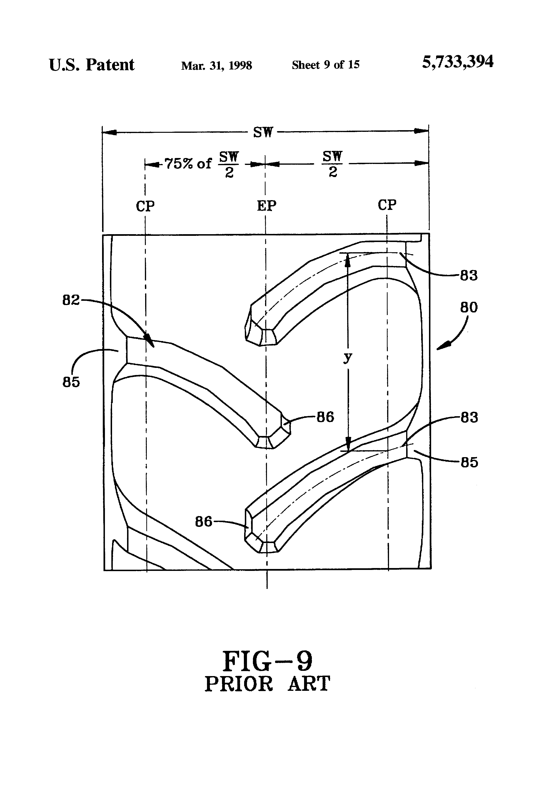 patent us5733394 radial agricultural tire with a pitched tread rh google com pg