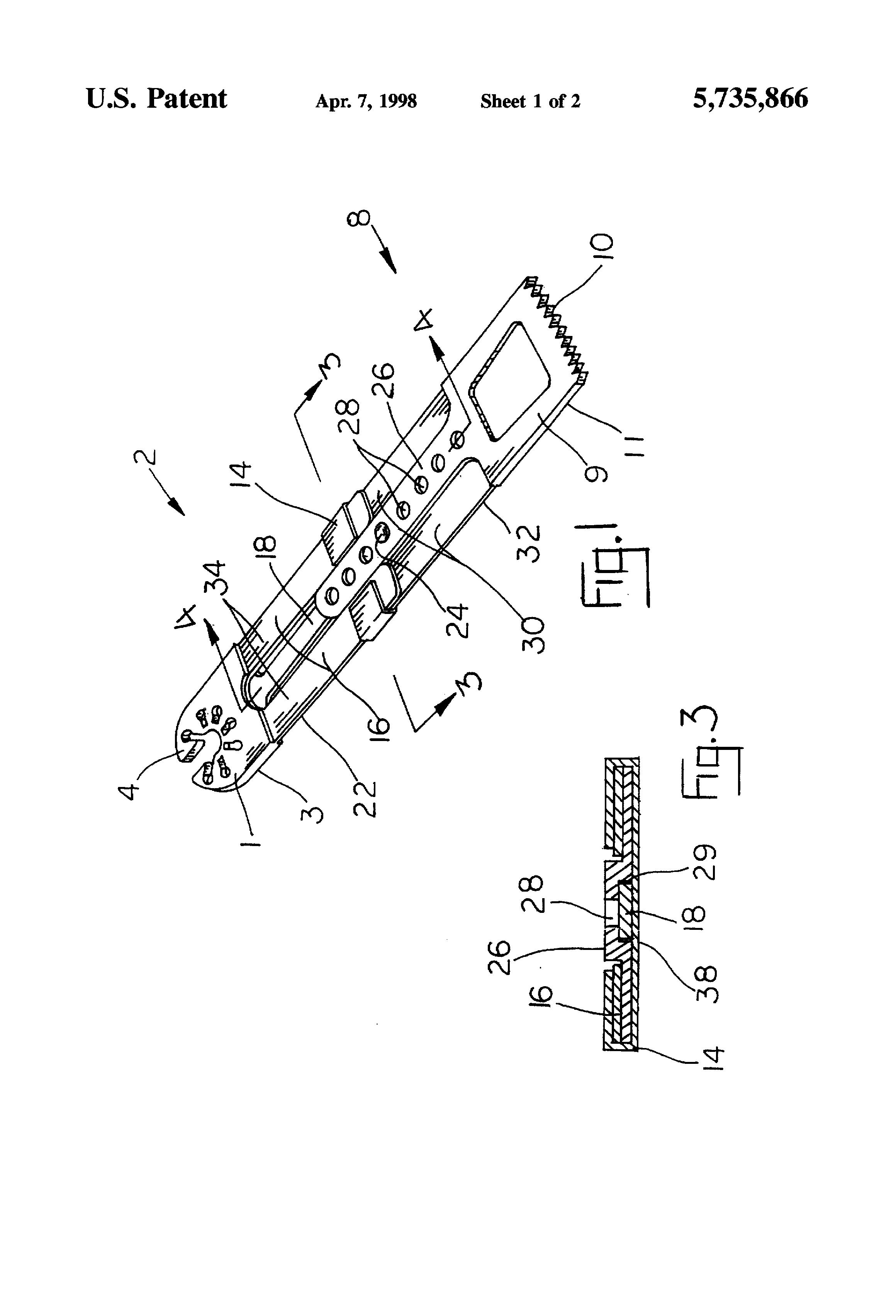 patent us5735866 - adjustable length saw blade - google patents