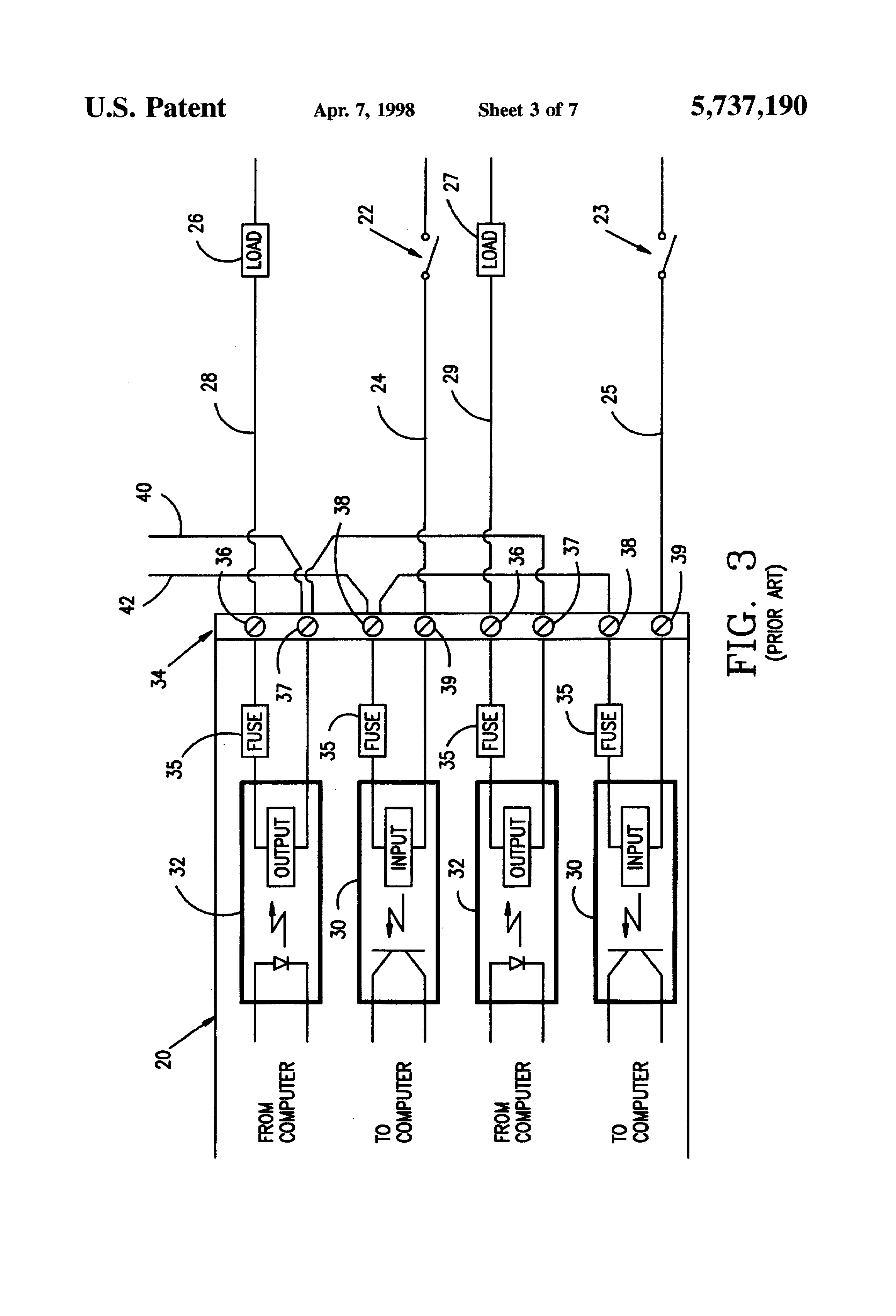 patent us5737190  output circuit board