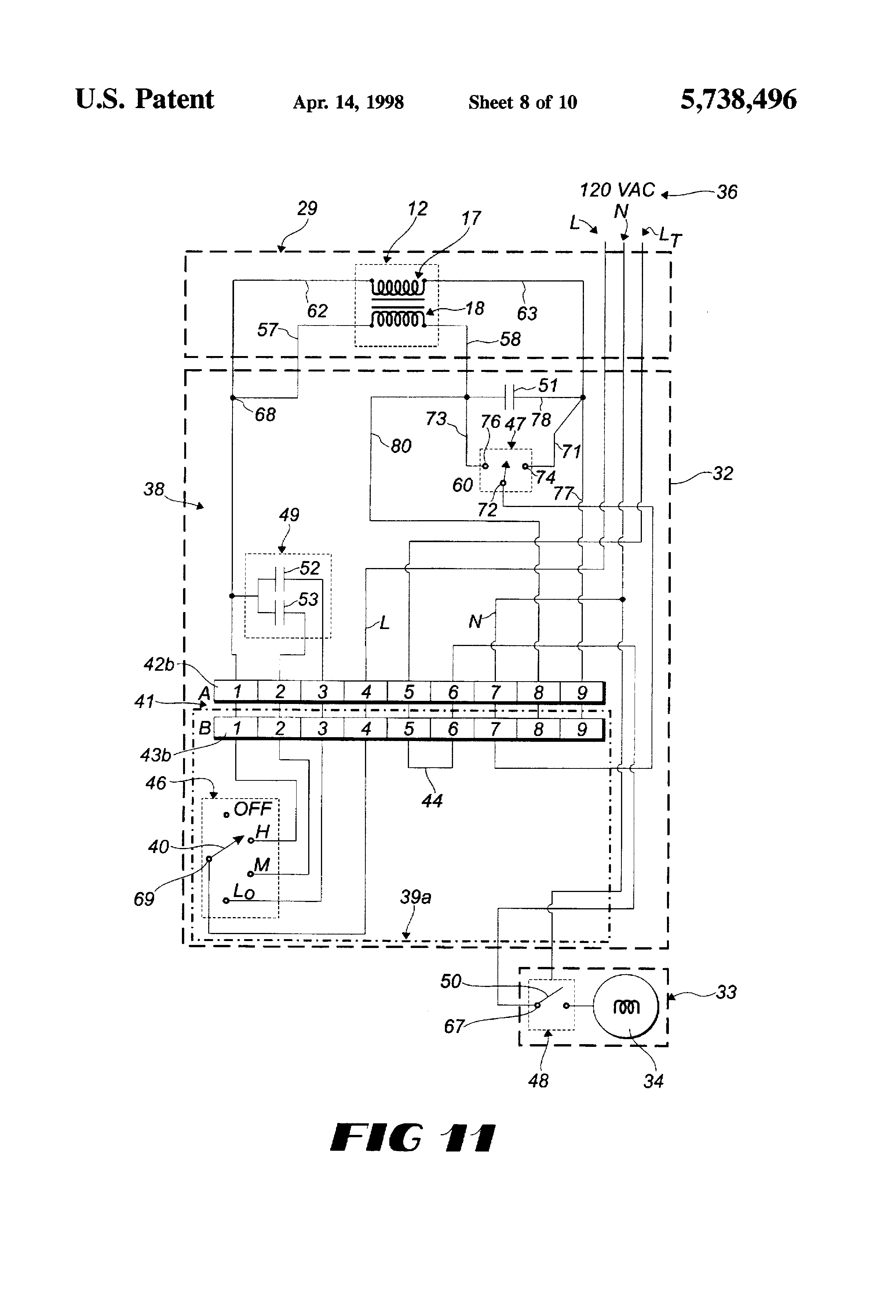 US5738496 8 patent us5738496 interchangeable plug in circuit completion cissell dryer wiring diagrams at gsmx.co