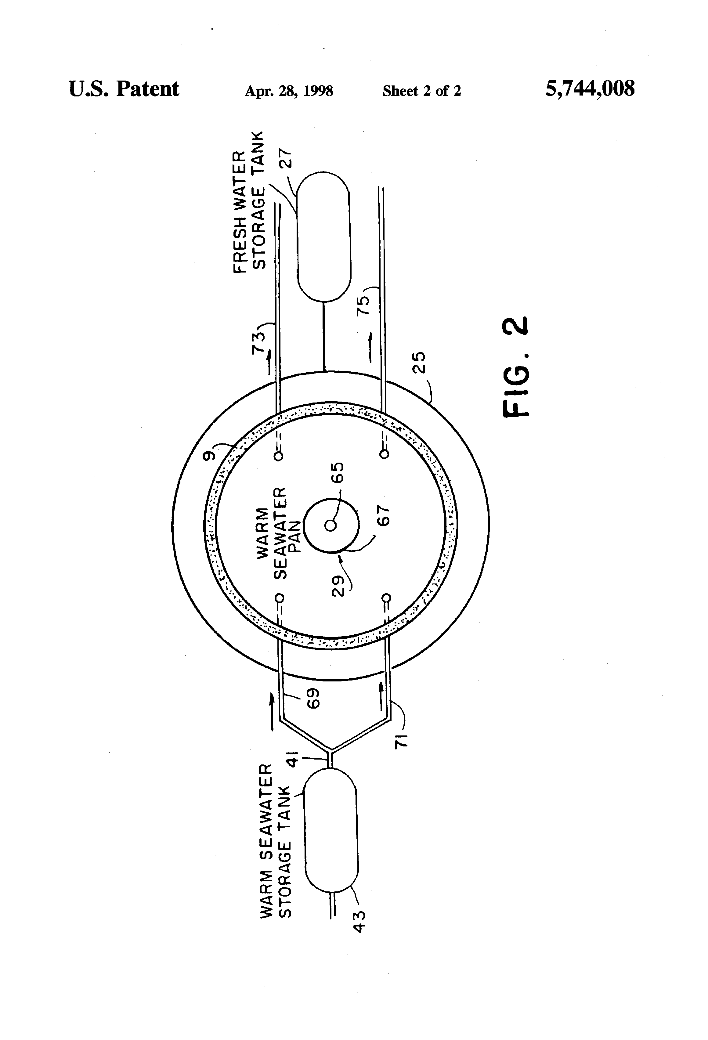 Patent US Hurricane tower water desalination device