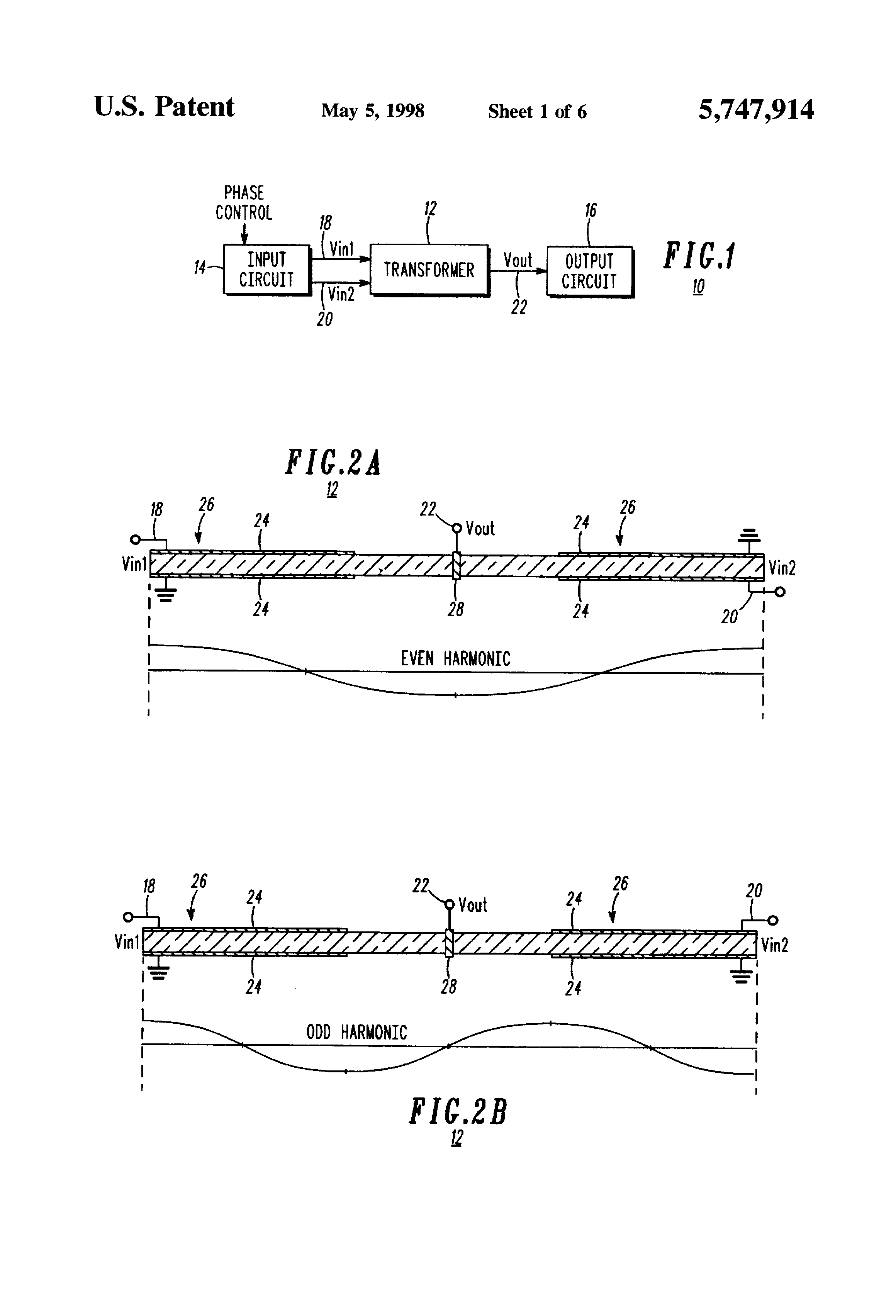 Patent Us5747914 Driving Circuit For Multisectional Piezoelectric Piezo Driver Drawing