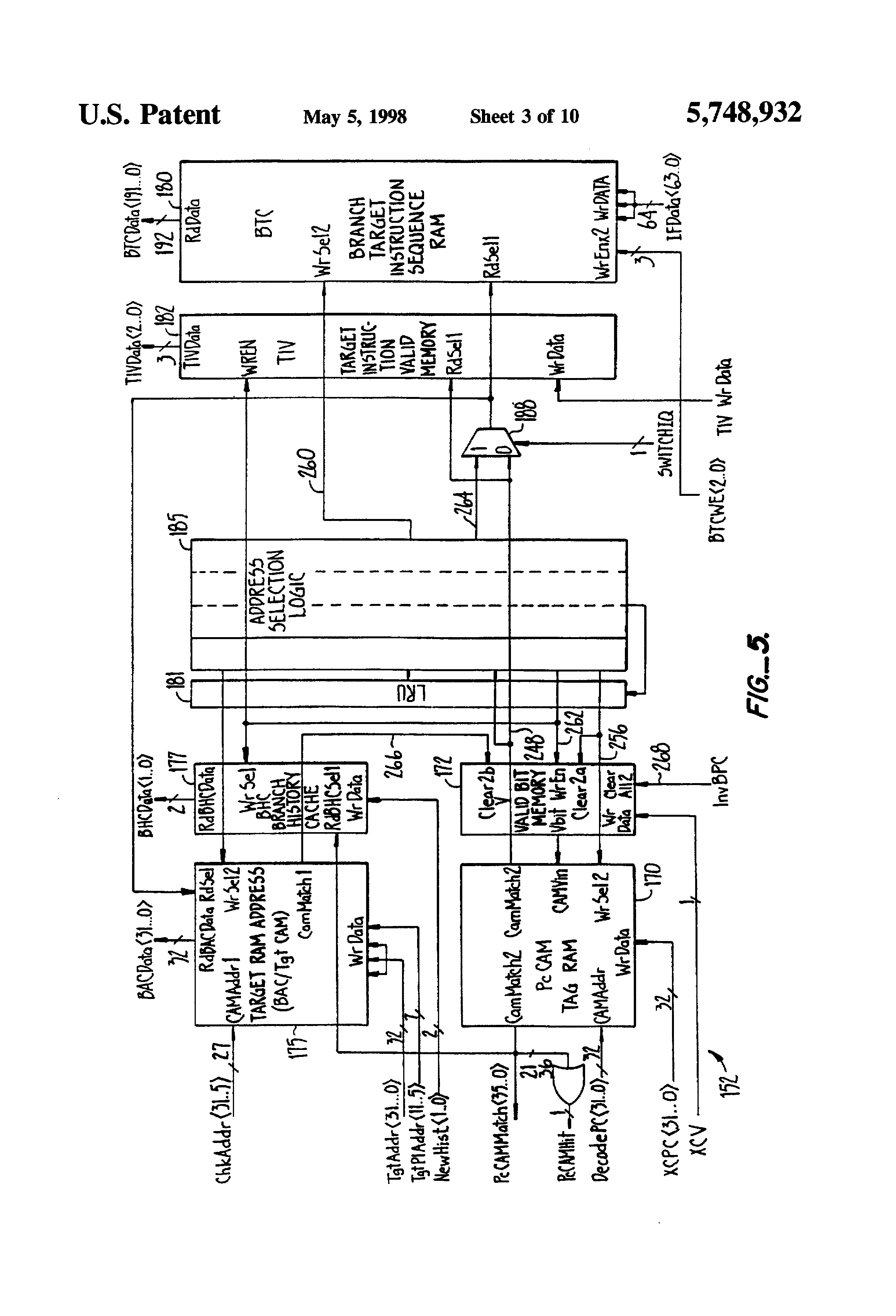 Patent Us5748932 Cache Memory System For Dynamically Altering Logic Diagram Of Ram Drawing