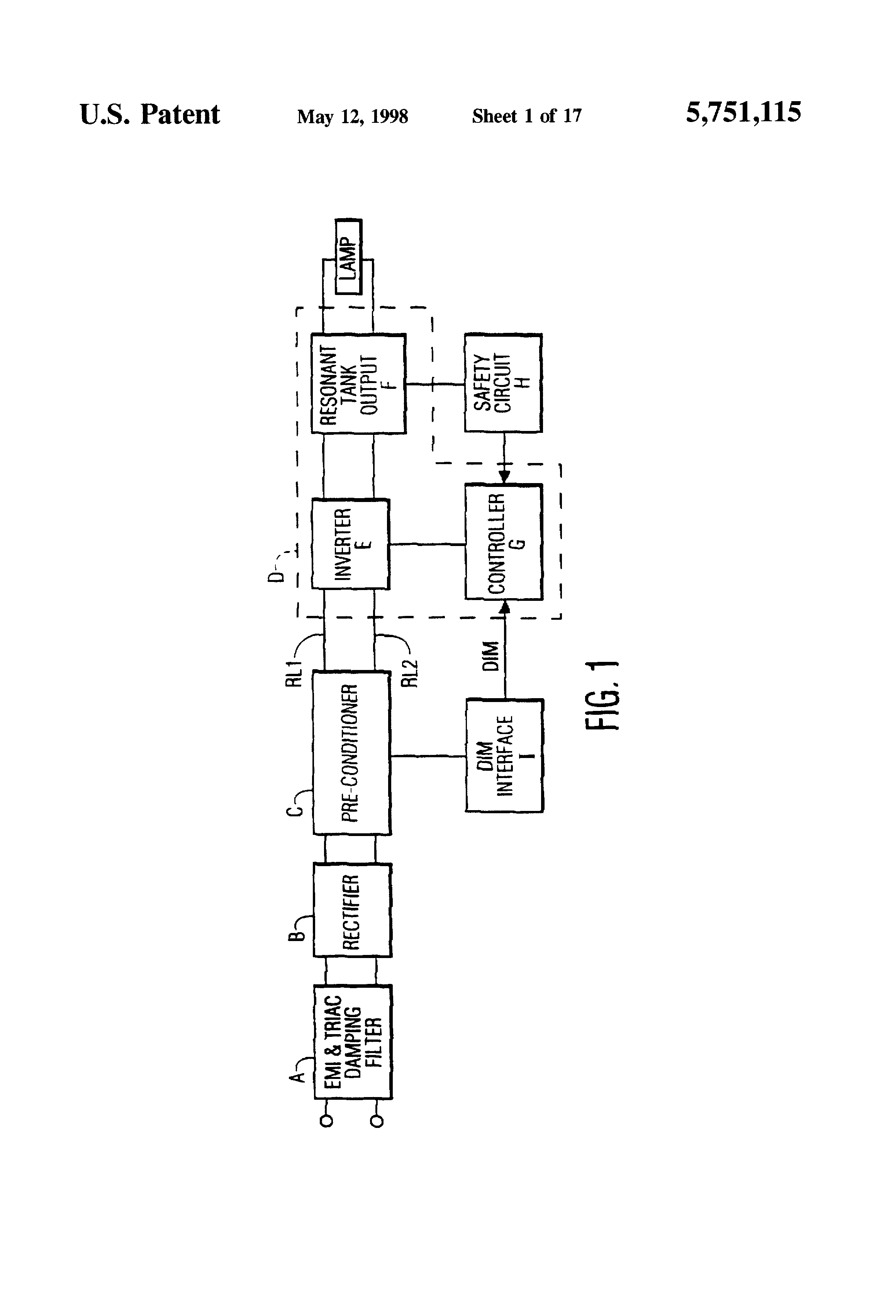 Patent Us5751115 Lamp Controller With Status Detection And Electronic Make It Easy Rectifier Circuit Diode Reservoir Drawing