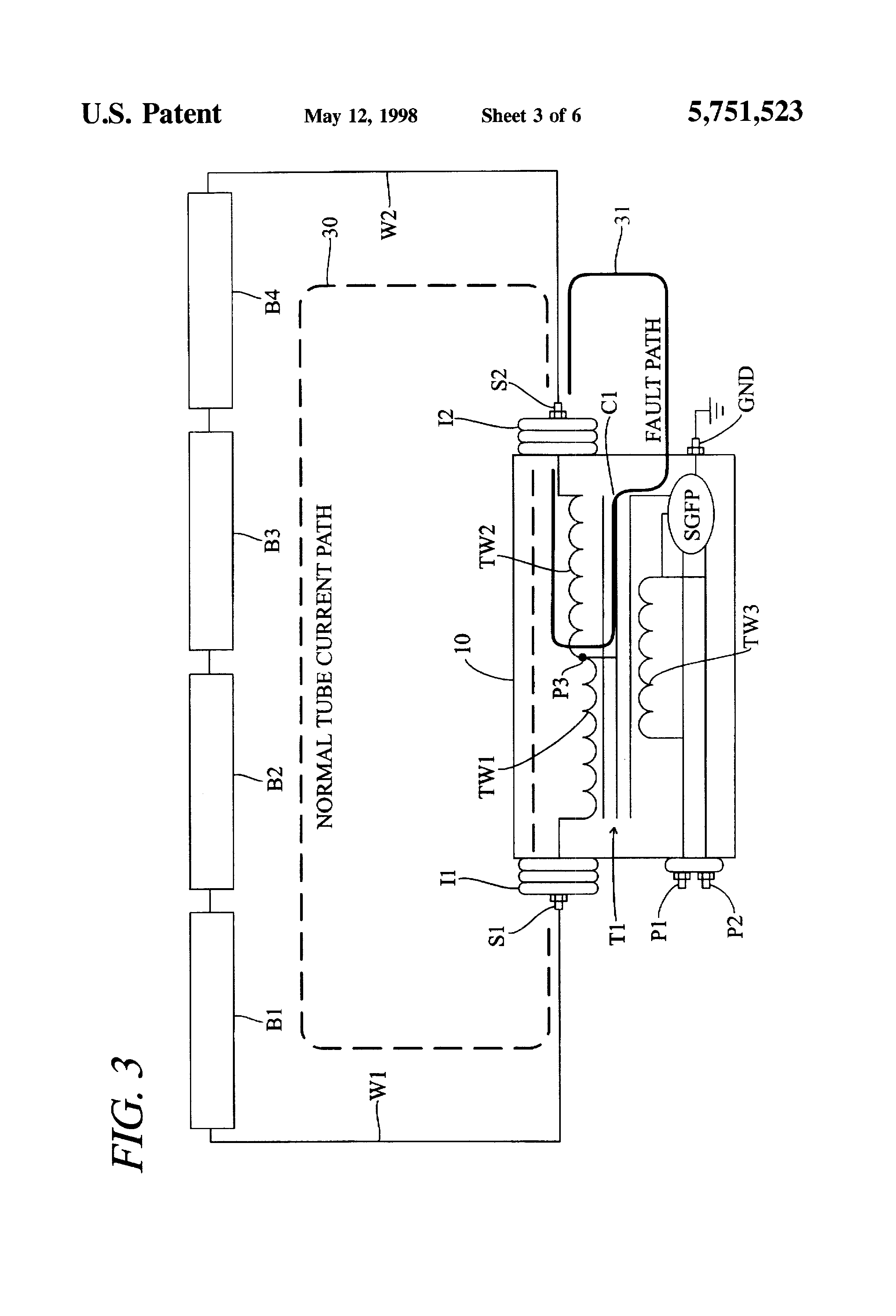 US5751523 3 patent us5751523 secondary ground fault protected luminous tube Microwave Transformer Wiring Diagram at n-0.co