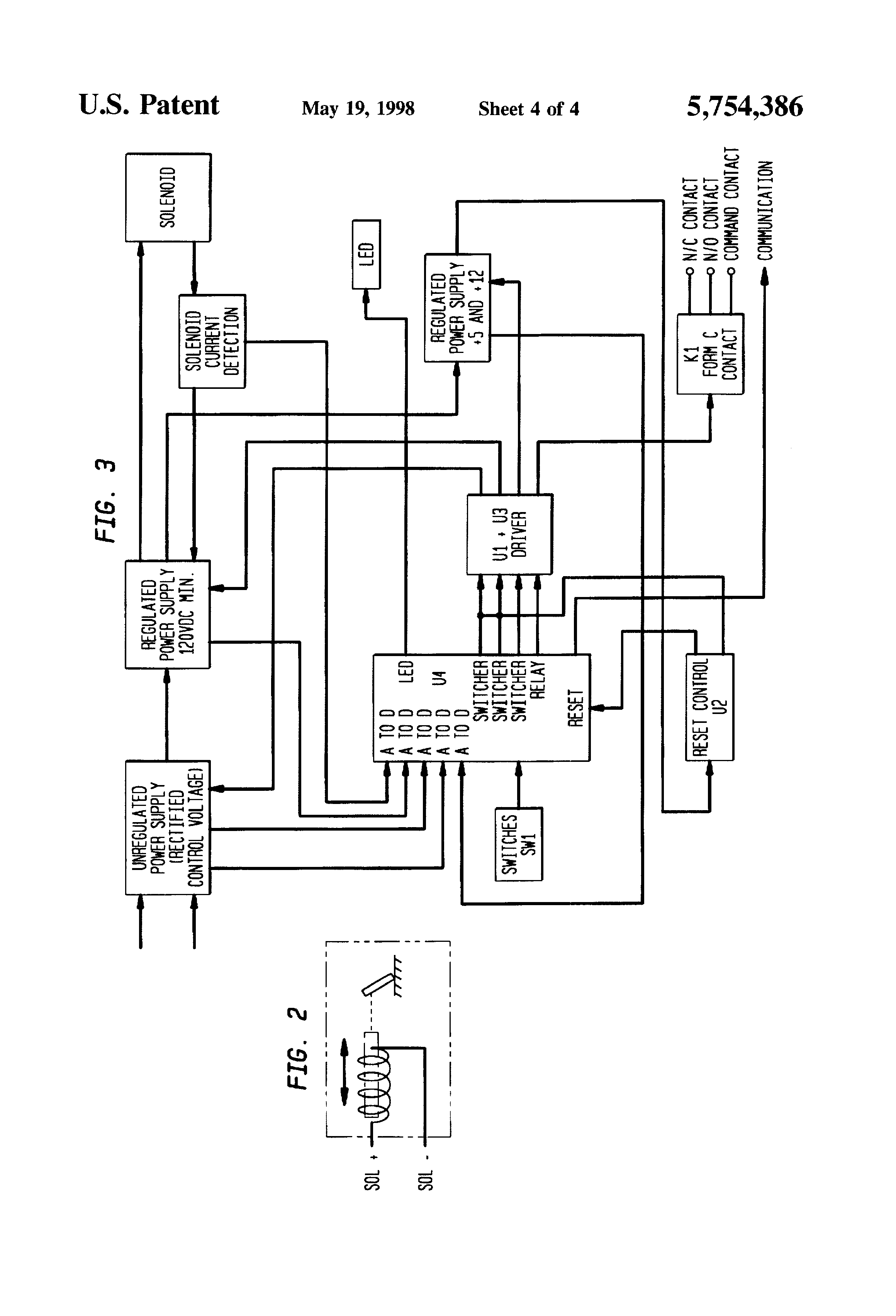 patent us5754386 trip device for an electric powered trip unit patent drawing