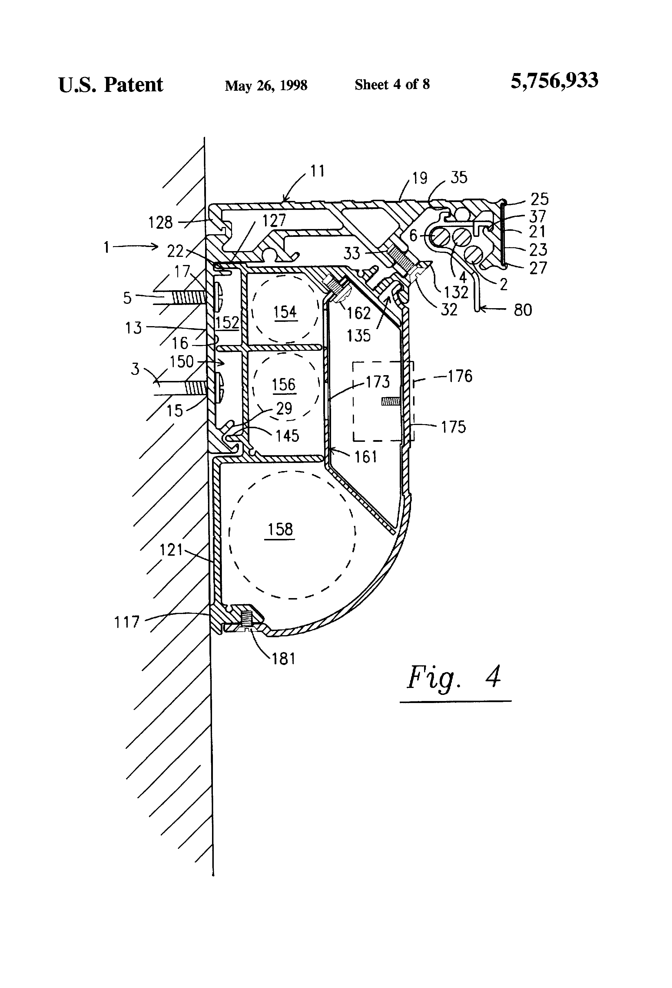 patent us5756933 - wall mountable universal bracket for use with a raceway system