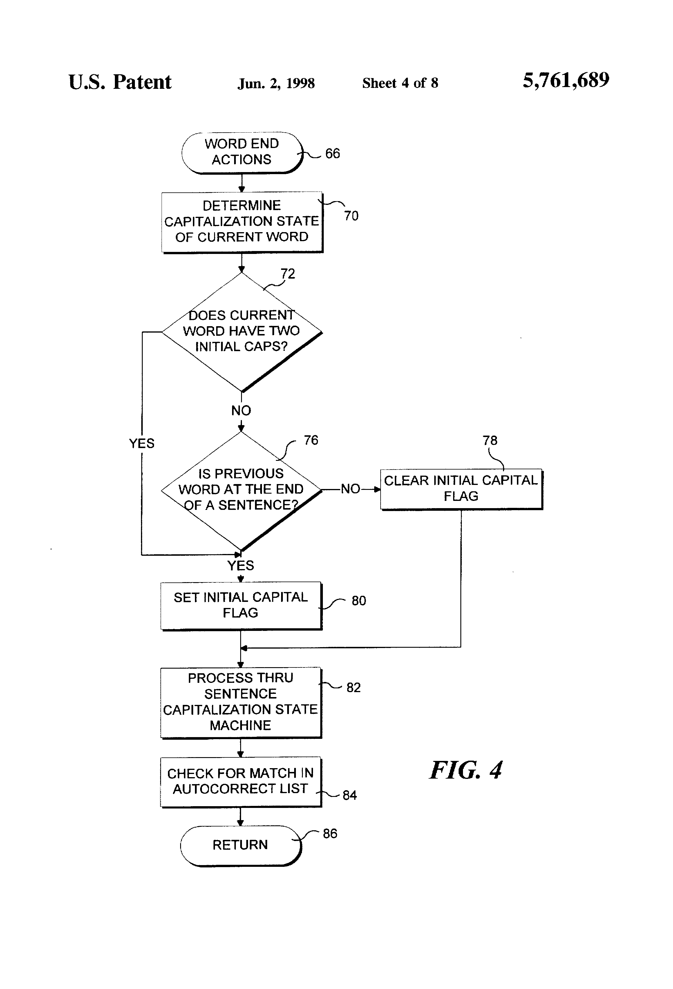 Patent US5761689 - Autocorrecting text typed into a word ...