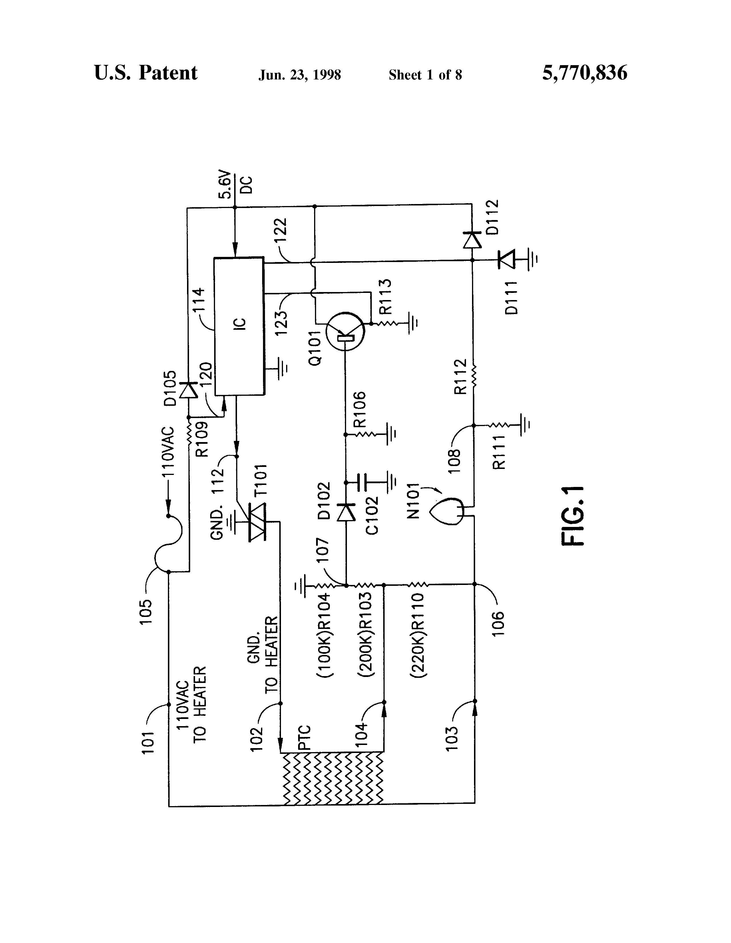 US5770836 1 patent us5770836 resettable safety circuit for ptc electric sunbeam electric blanket wiring diagram at soozxer.org