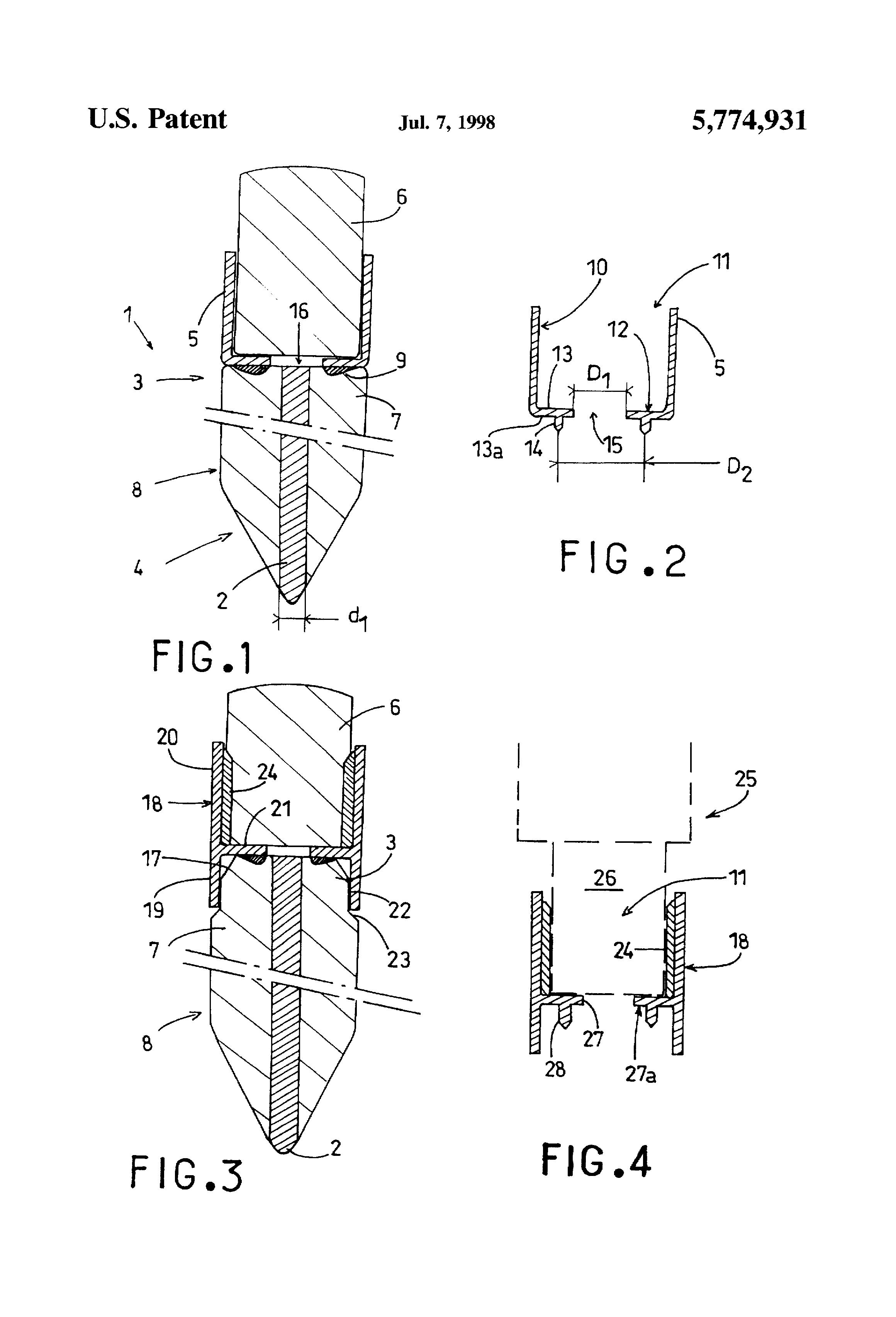 Patent Us5774931 Pencil Having An Eraser Holding Ferrule Secured Ultrasonic Welding Diagram Drawing