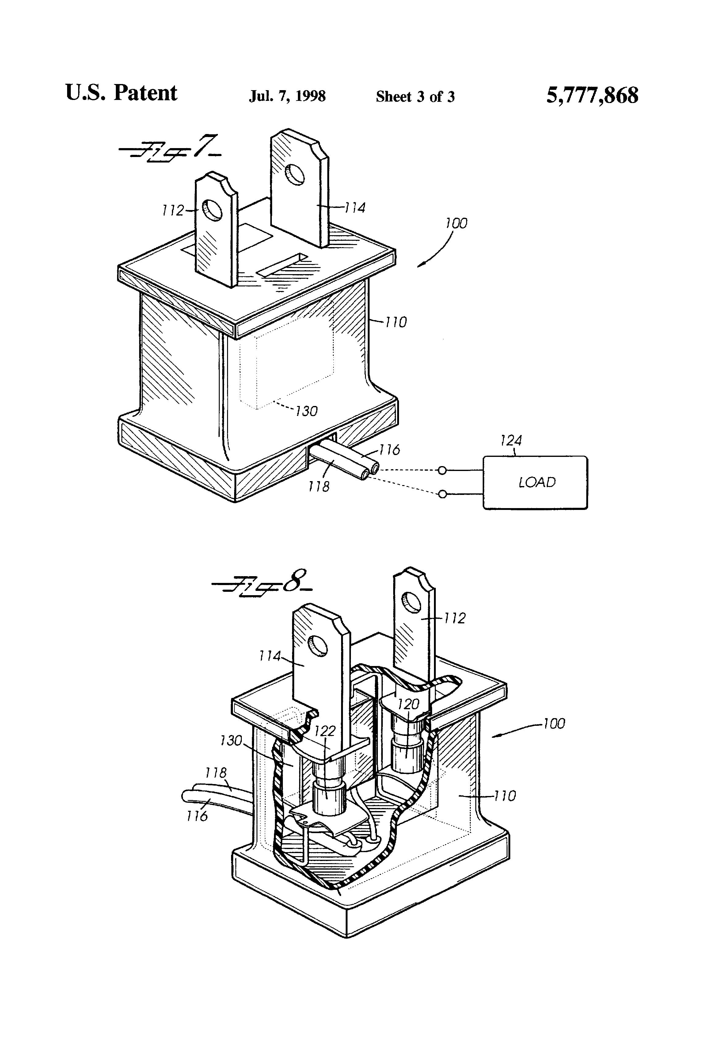 patent us5777868 - electrical plug