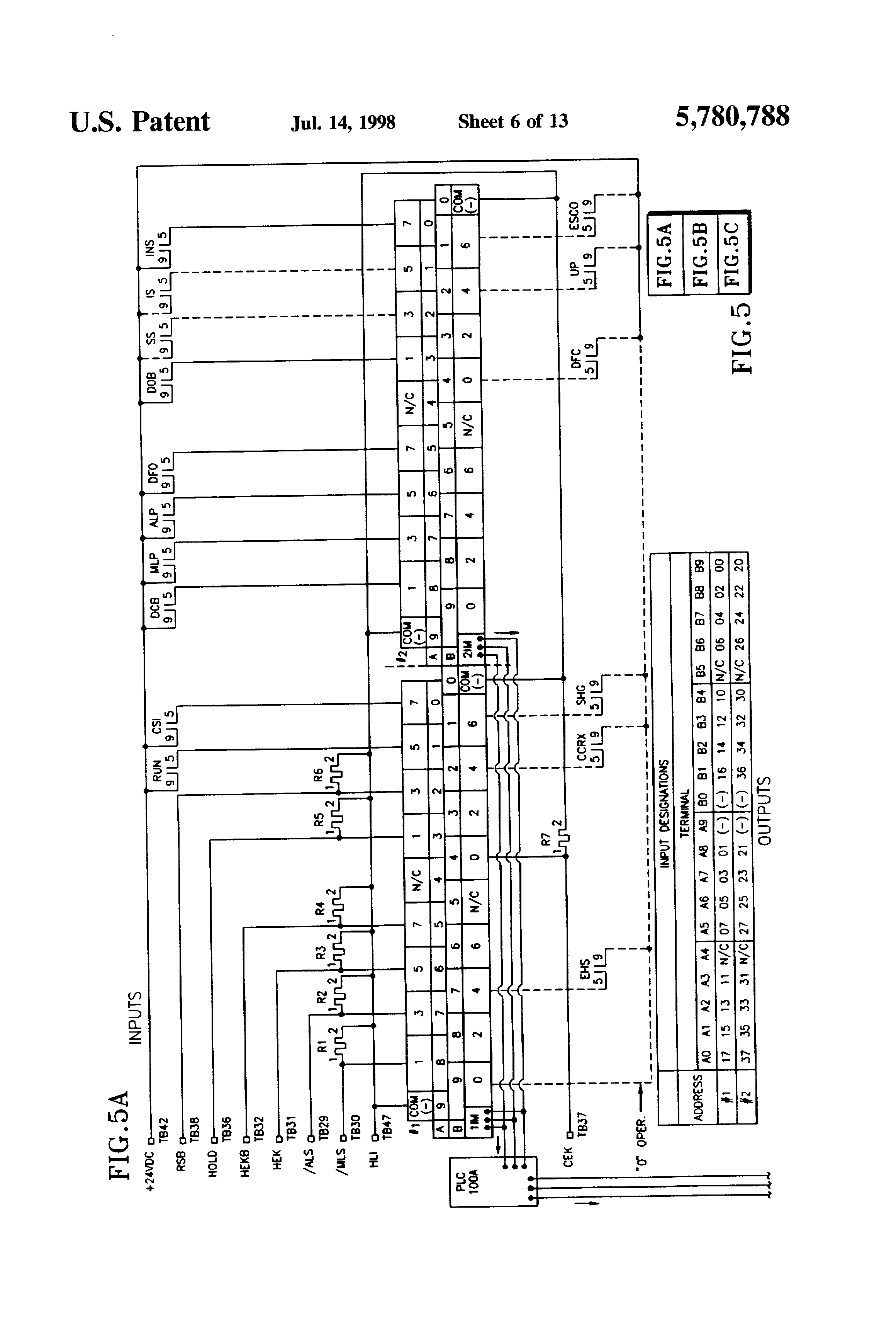Esco Elevator Wiring Diagram Cable Service For Patent Us5780788 Special Emergency Control Arrangement On Us Company Schematic
