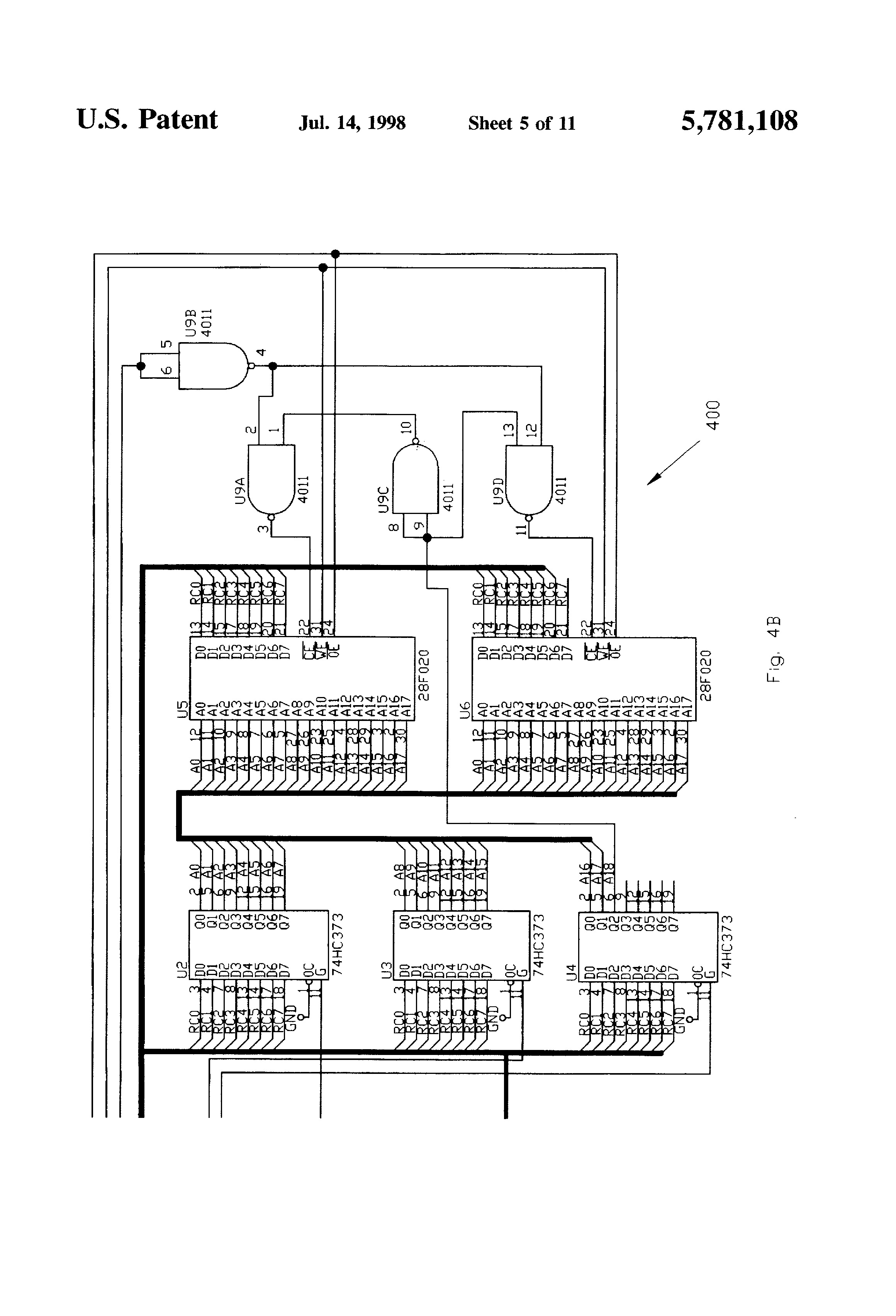 Patent Drawing. Patent US5781108   Automated detection and monitoring  ADAM