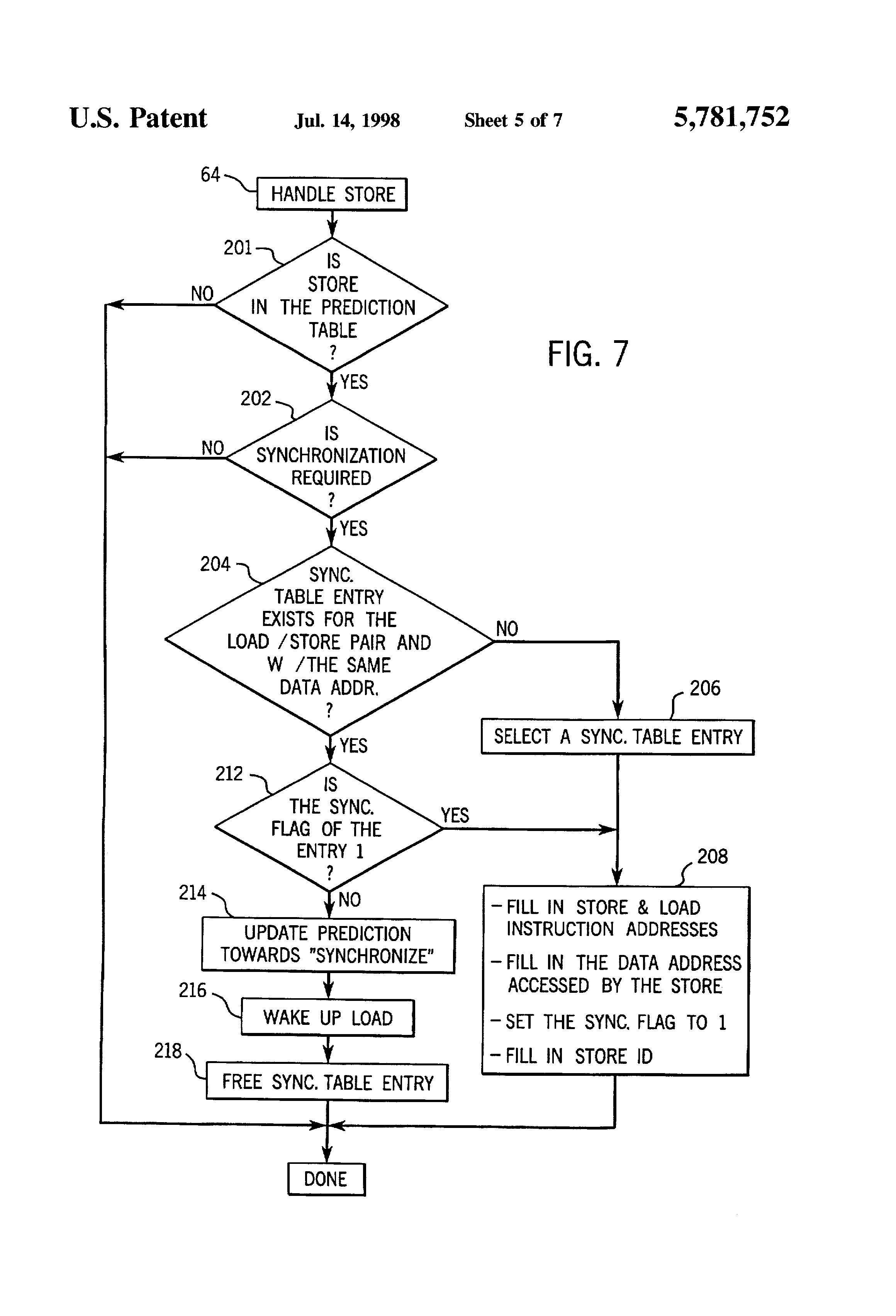 patent us5781752