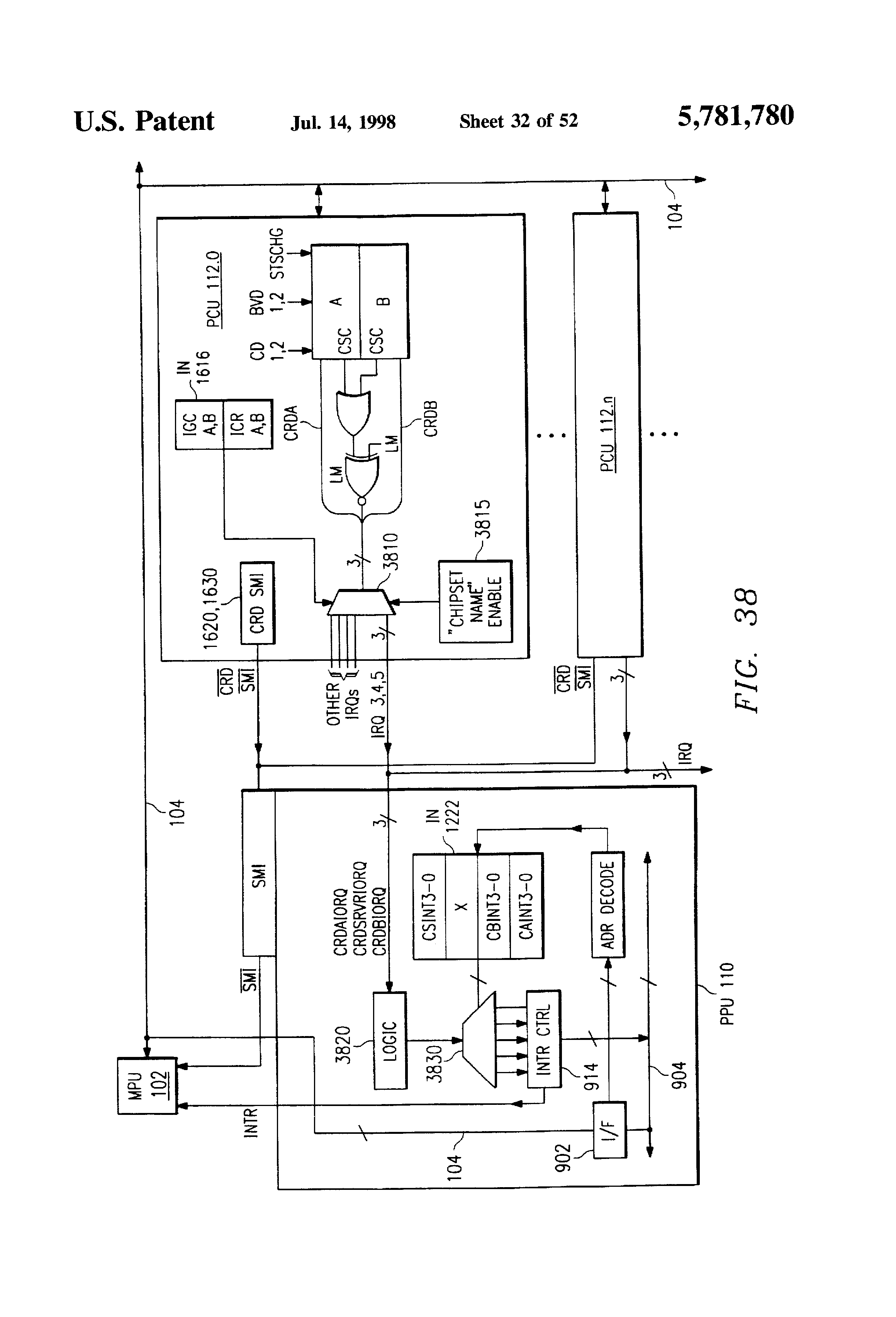 Patente Us5781780 Power Management Supply Interface Circuitry Drive Scr Flash Circuit Diagram Powersupplycircuit Patent Drawing