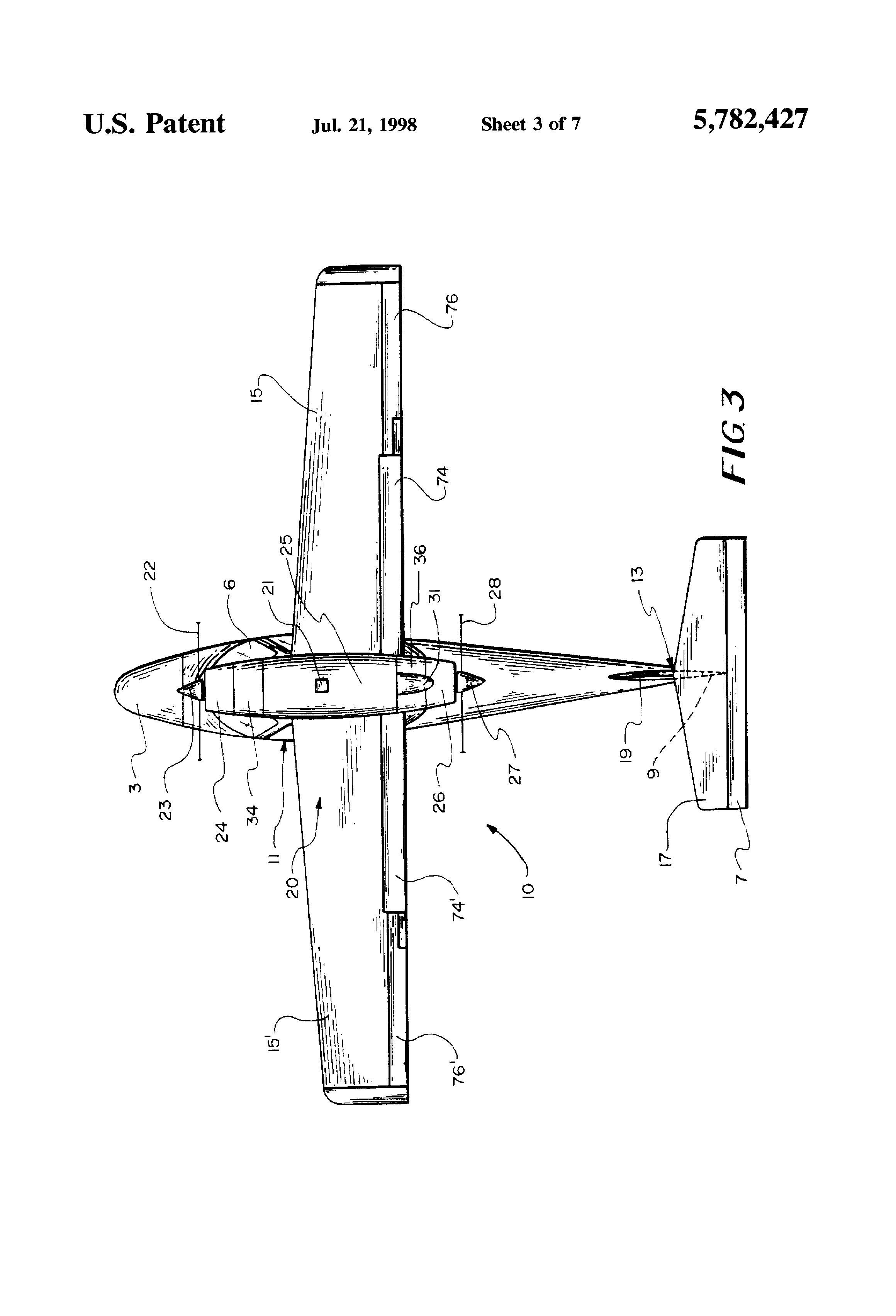 patent us5782427 - tandem-engine aircraft propulsion module