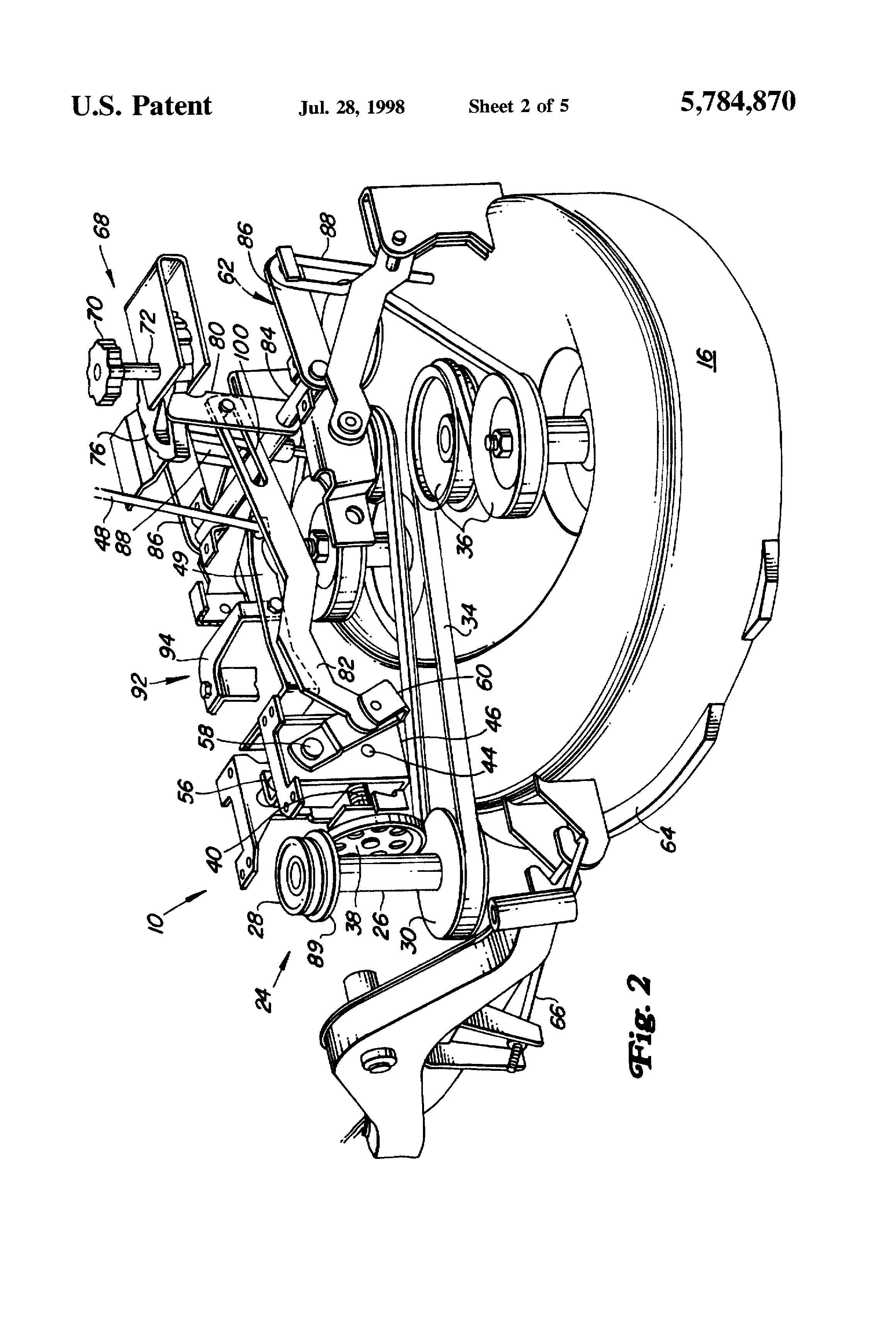 Patent US5784870 Power lift mechanism for mower deck Google – John Deere Lx188 Engine Parts Diagram