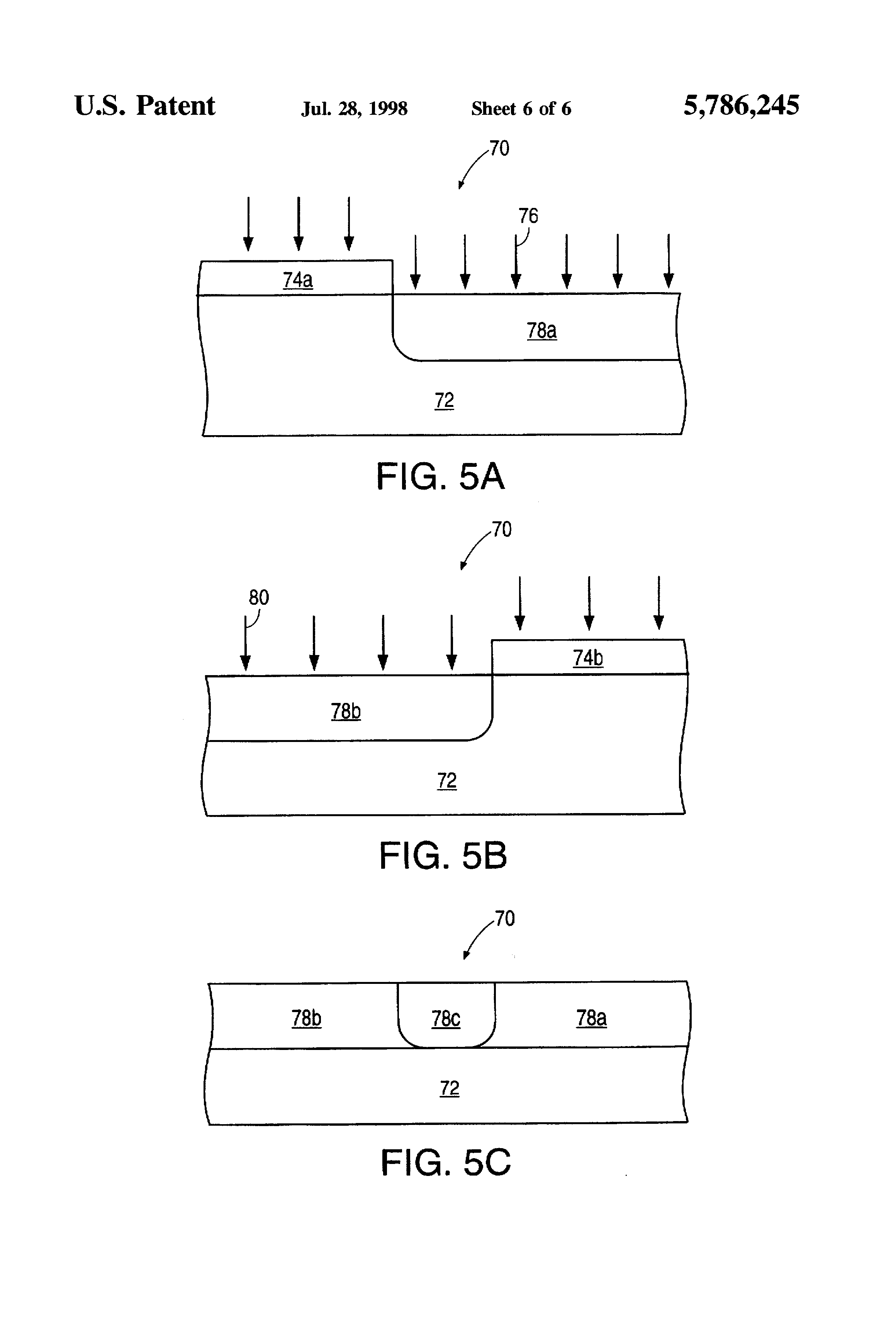 patent us5786245 method for forming a stable sram cell using low patent drawing