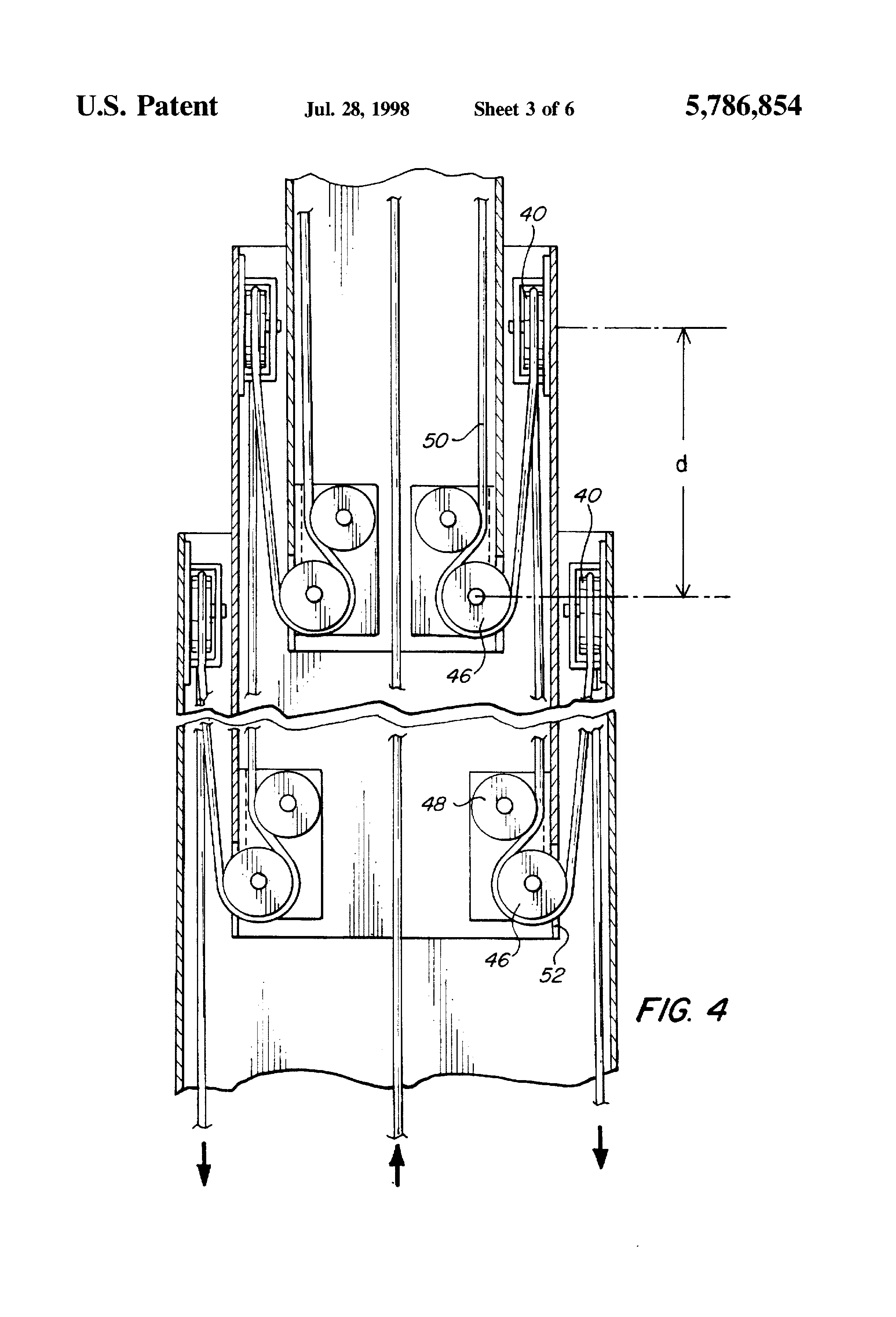 Patent Us5786854 Portable Self Contained Telescoping