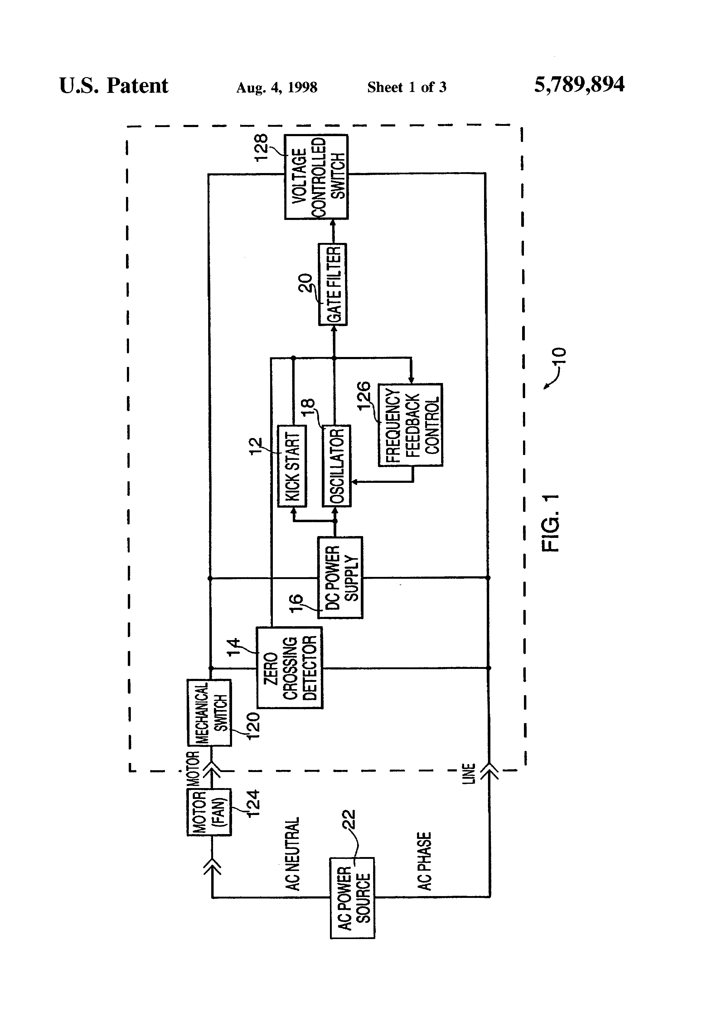 Patent us5789894 solid state motor speed control for Solid state motor speed control
