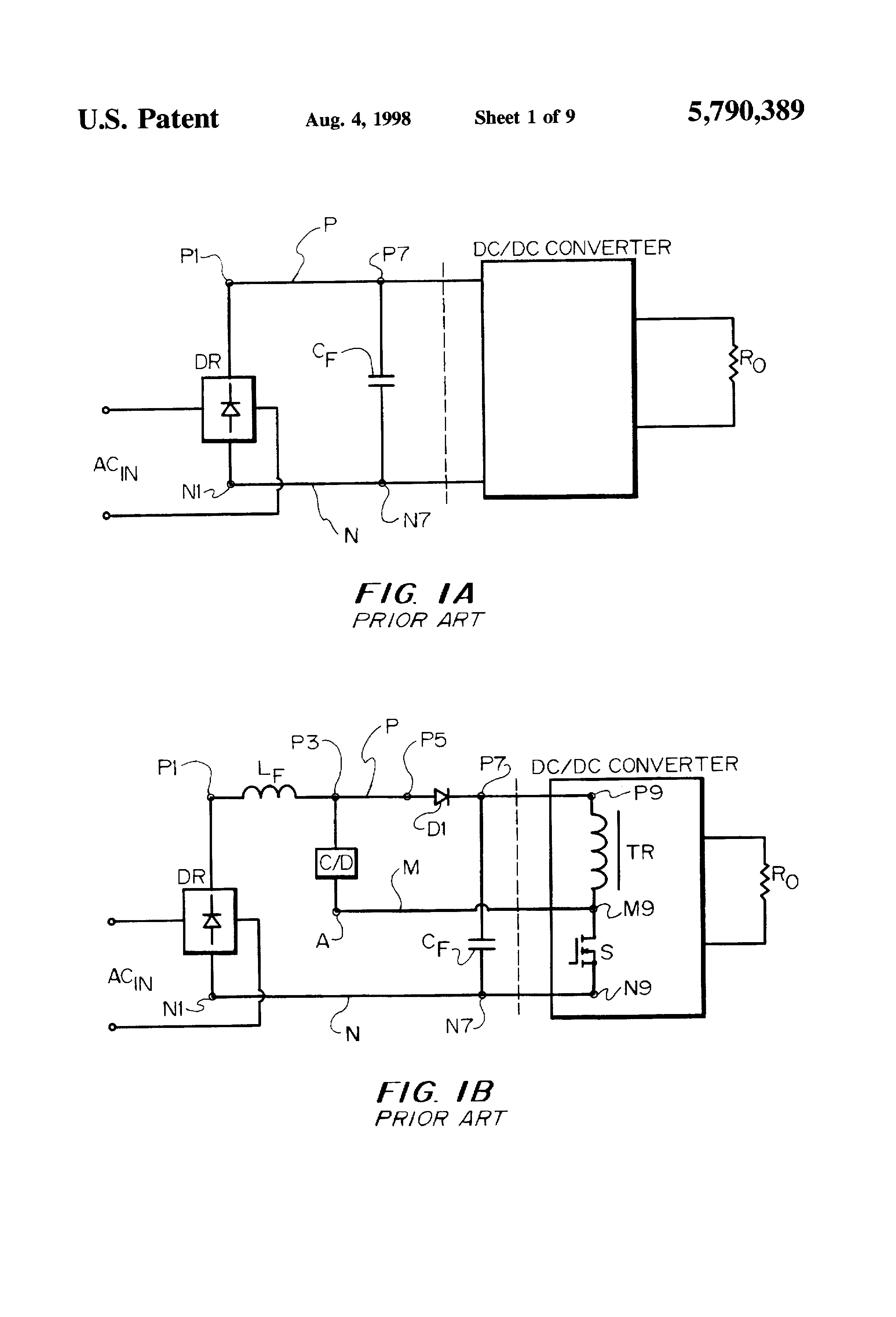Patent Us5790389 Consolidated Soft Switching Ac Dc Converters To Converter Circuit Diagram Drawing
