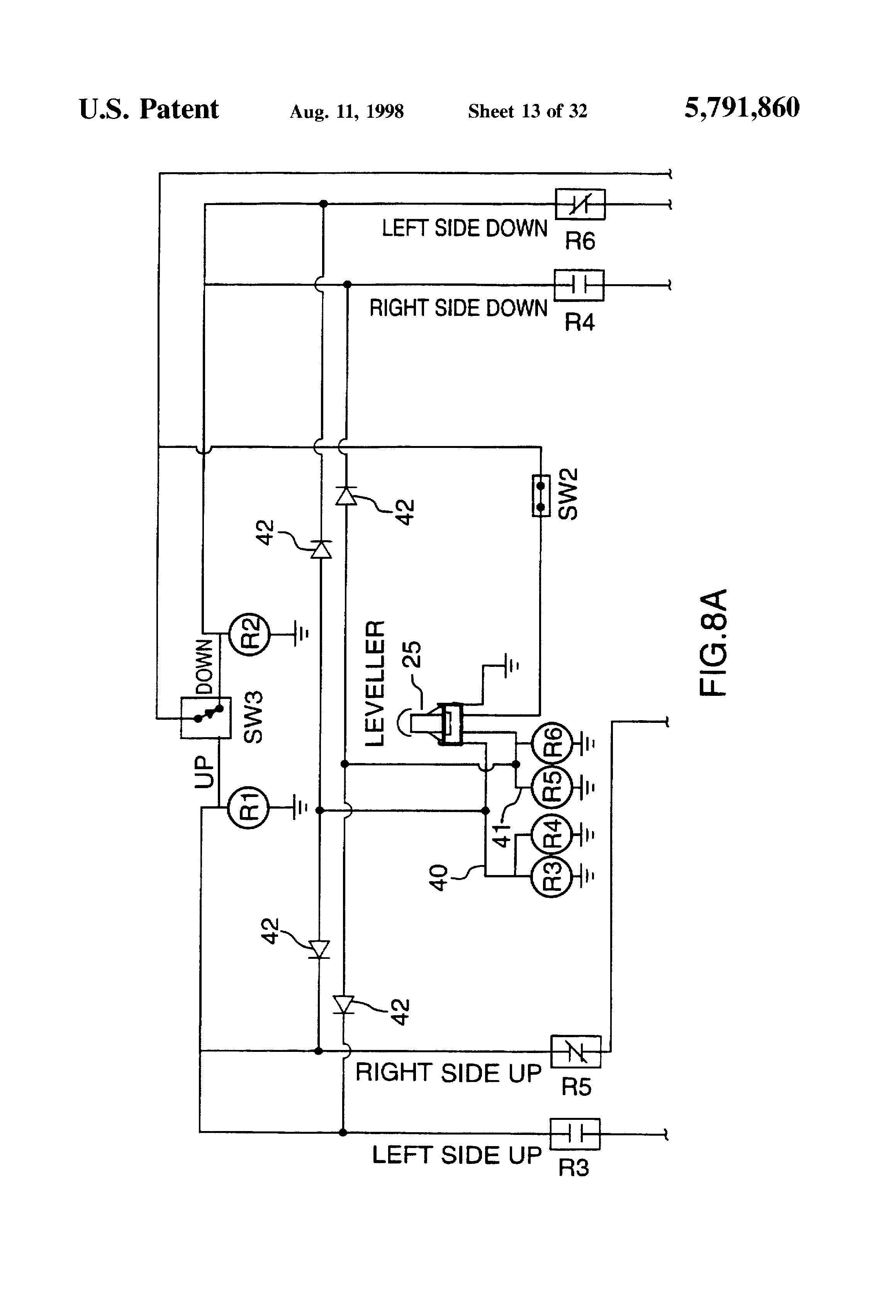 US5791860 13 patent us5791860 hydraulic platform lift for a truck tailgate maxon lift gate switch wiring diagram at mifinder.co