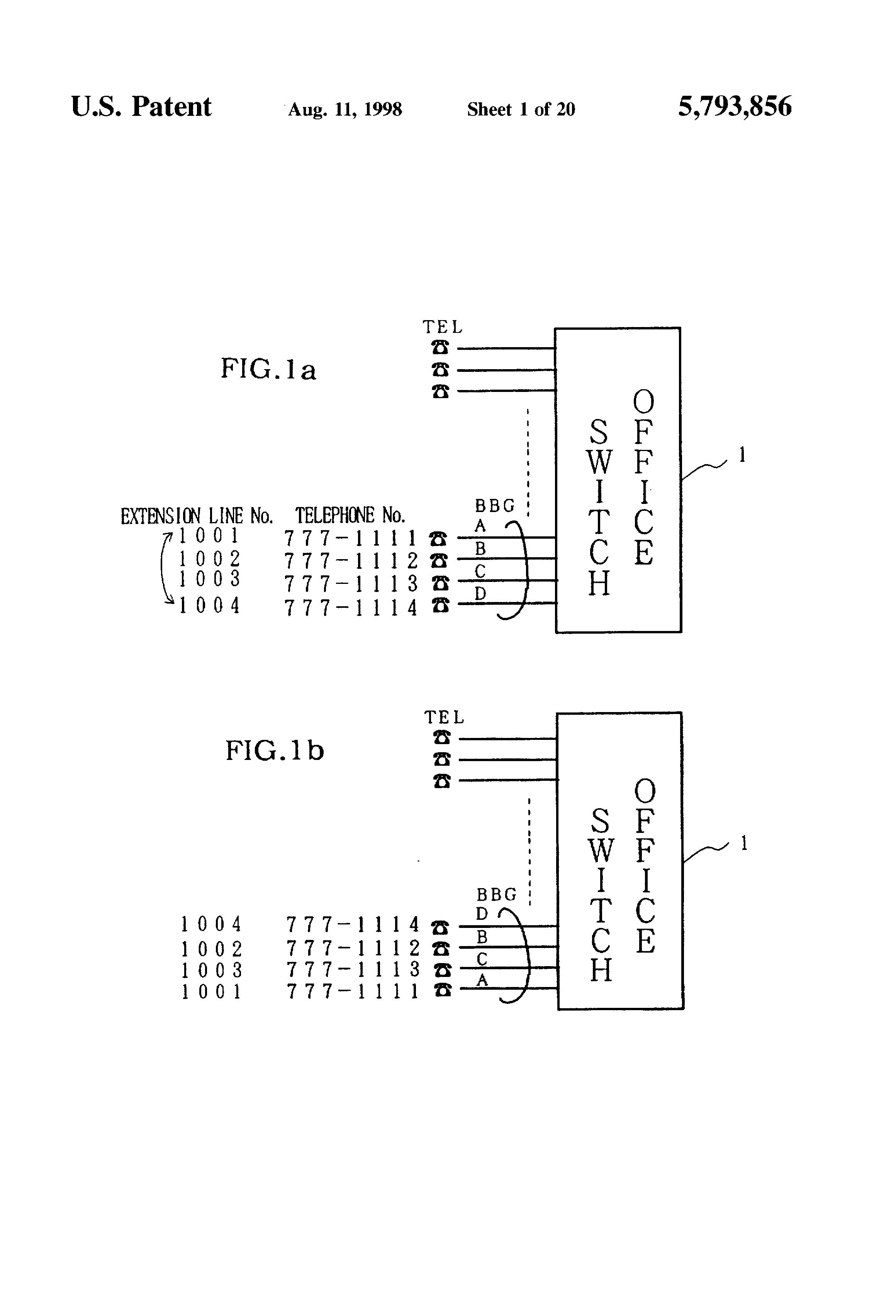 worksheet Number Line Without Numbers patent us5793856 switch system for switching extension numbers drawing