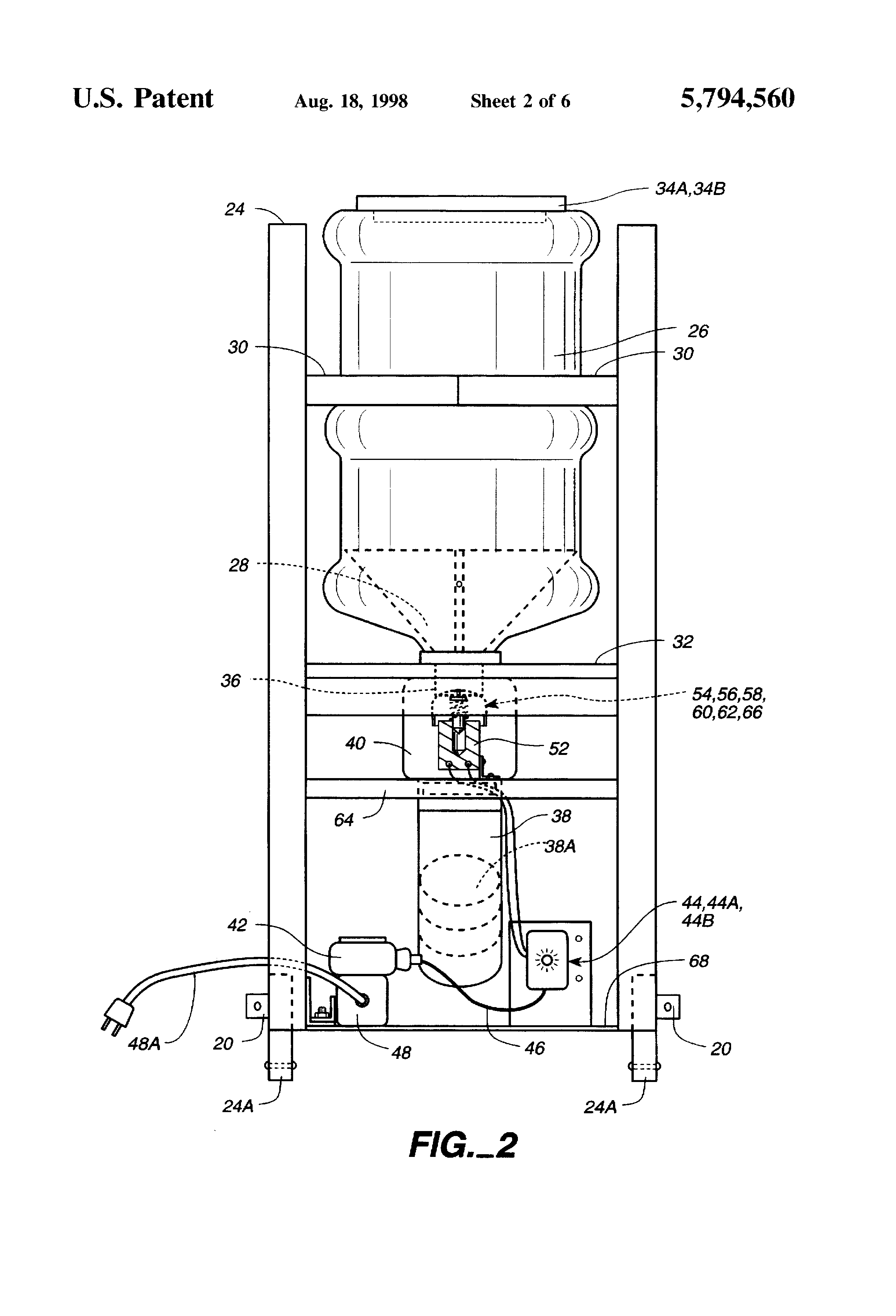 US5794560 2 patent us5794560 automatic dog and cat feeder google patents Metal Automatic Dog Feeder at gsmportal.co