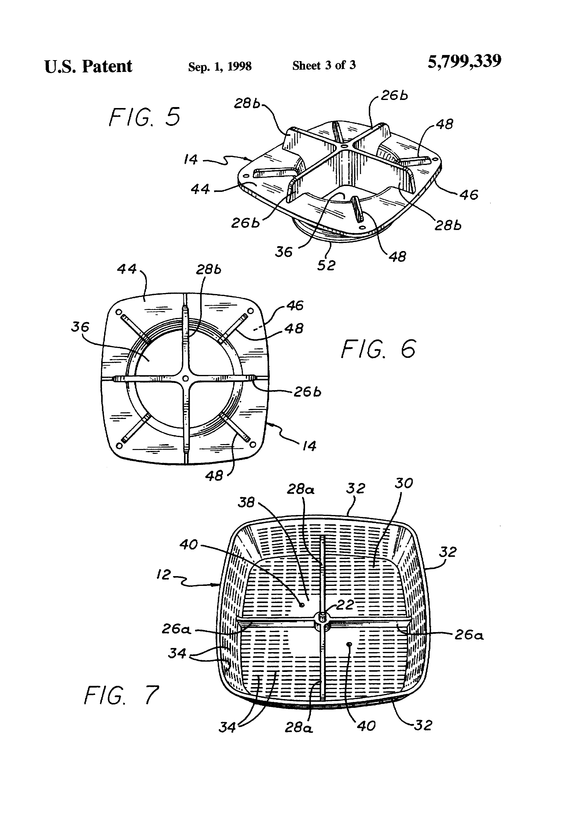 Patent Us5799339 Safety Cover For Spa Suction Drain