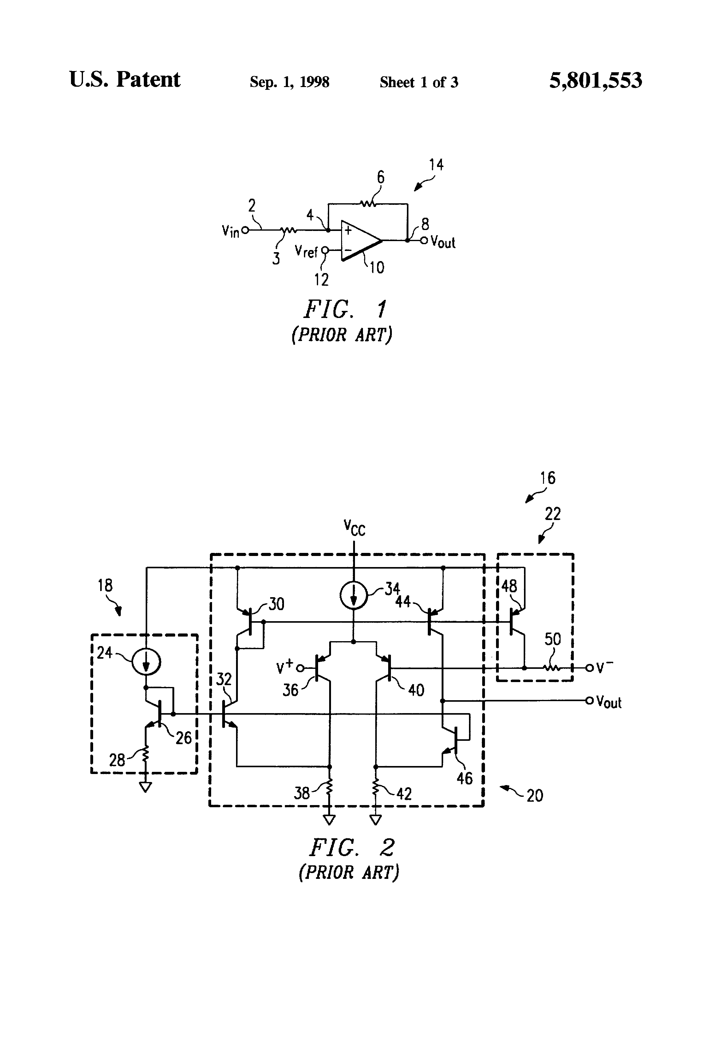 Patent Us5801553 Comparator With Built In Hysteresis Google Patents Circuits Design Tool Drawing