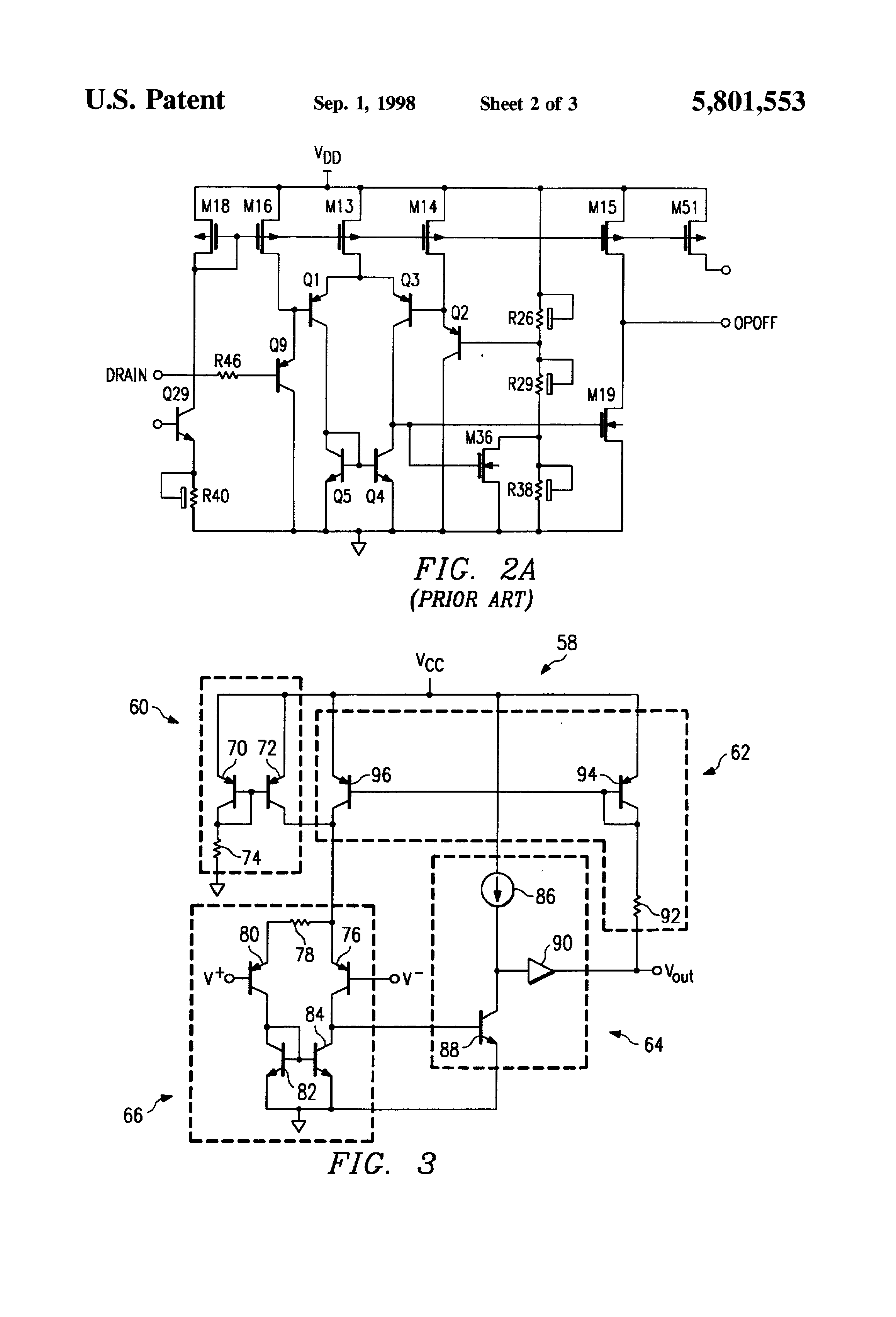 Patent Us5801553 Comparator With Built In Hysteresis Google Patents Figure 5 Circuit Drawing