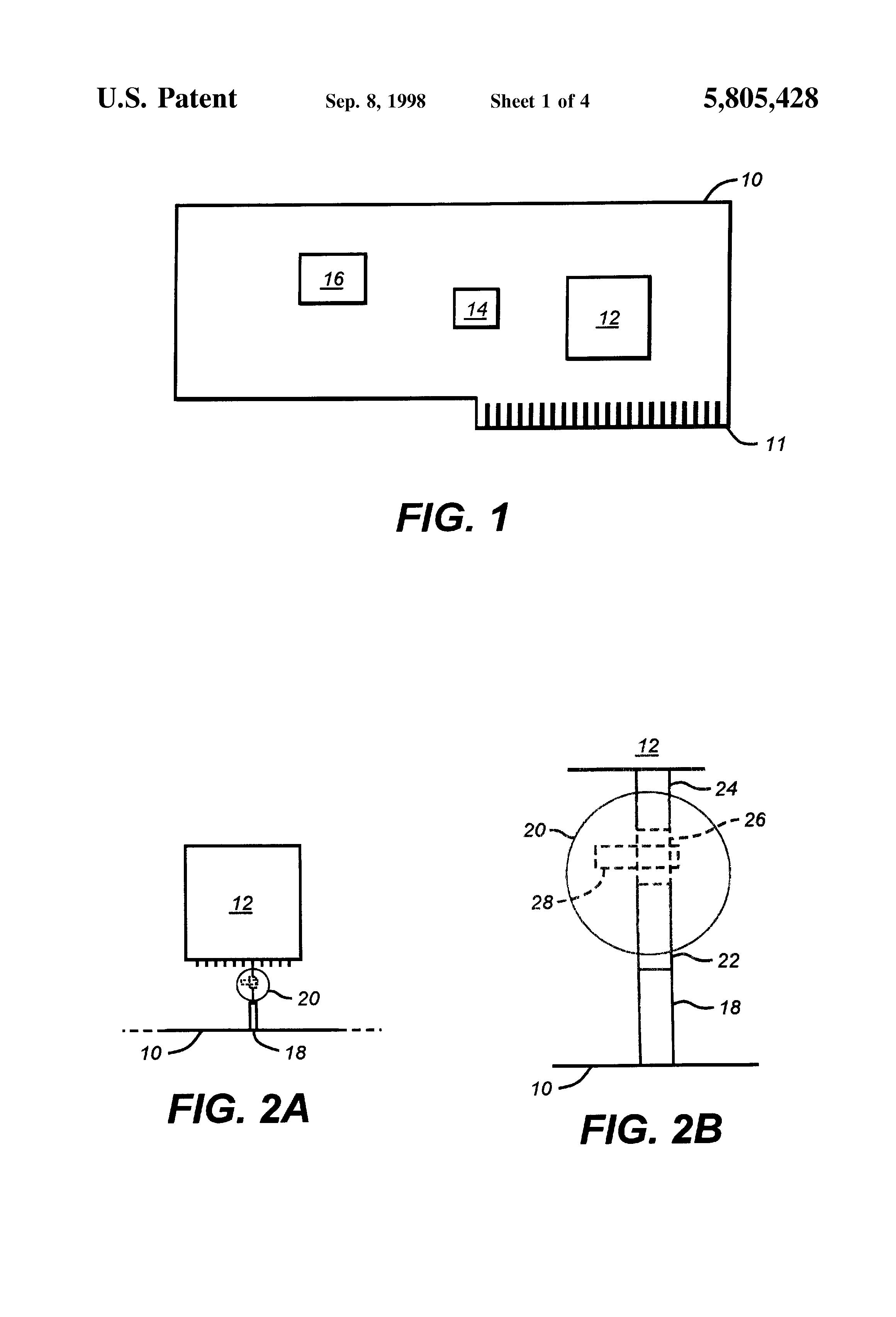 Patent Us5805428 Transistor Resistor Printed Circuit Board Layout Designer Drawing