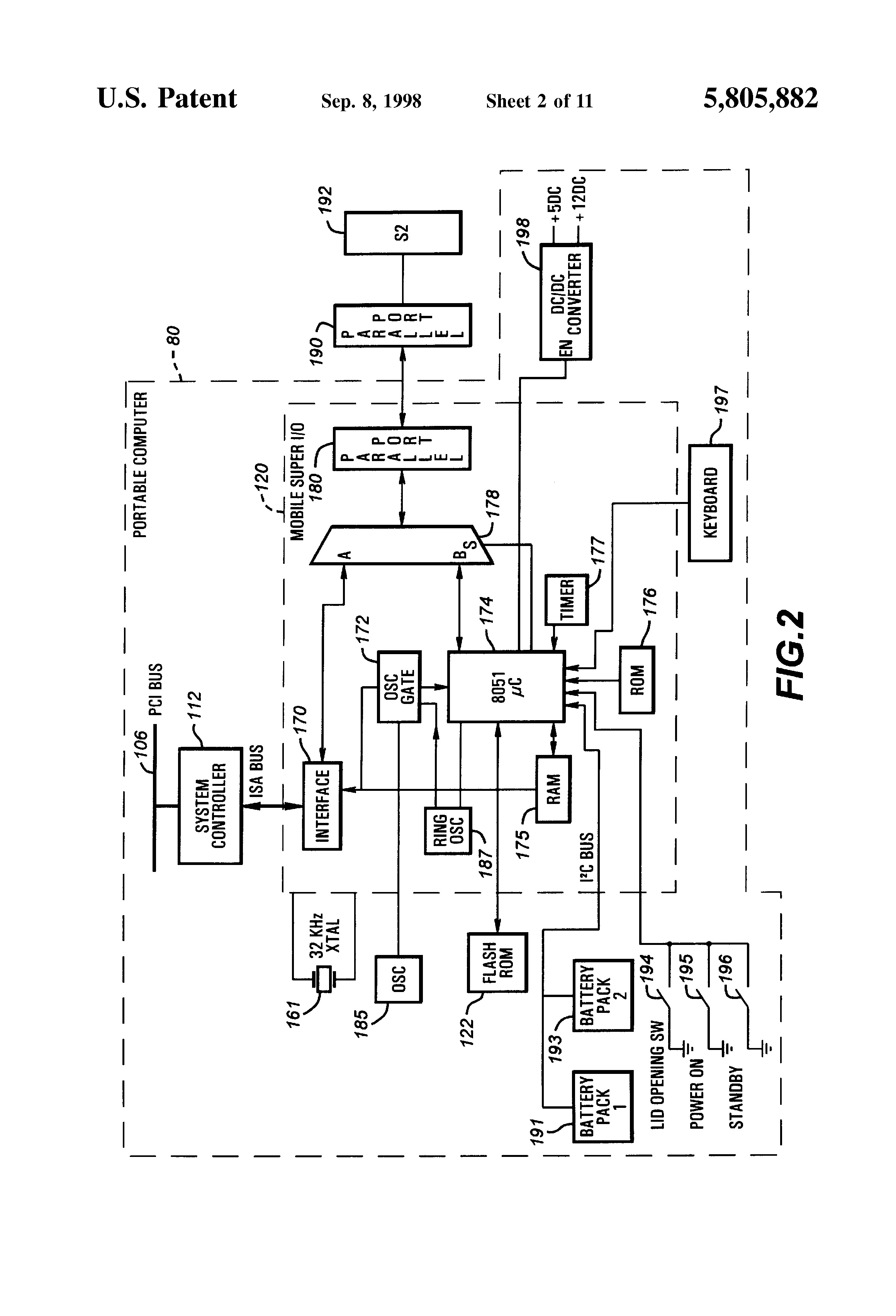 patent us5805882 computer system and method for replacing obsolete or corrupt boot code