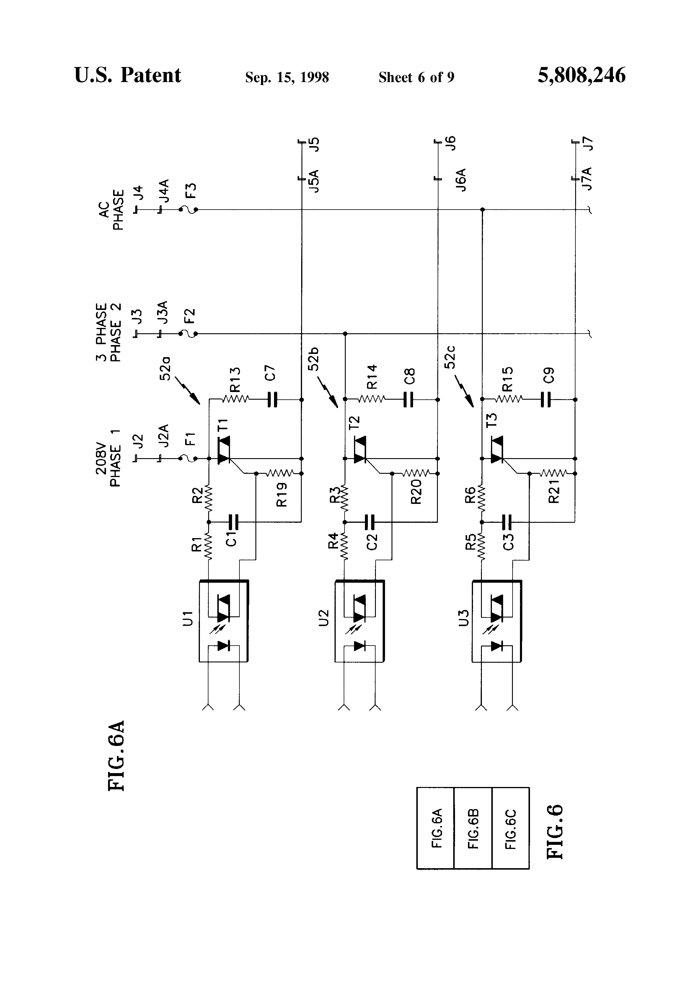 Patent Us5808246 Triac Drive For Three Phase Line