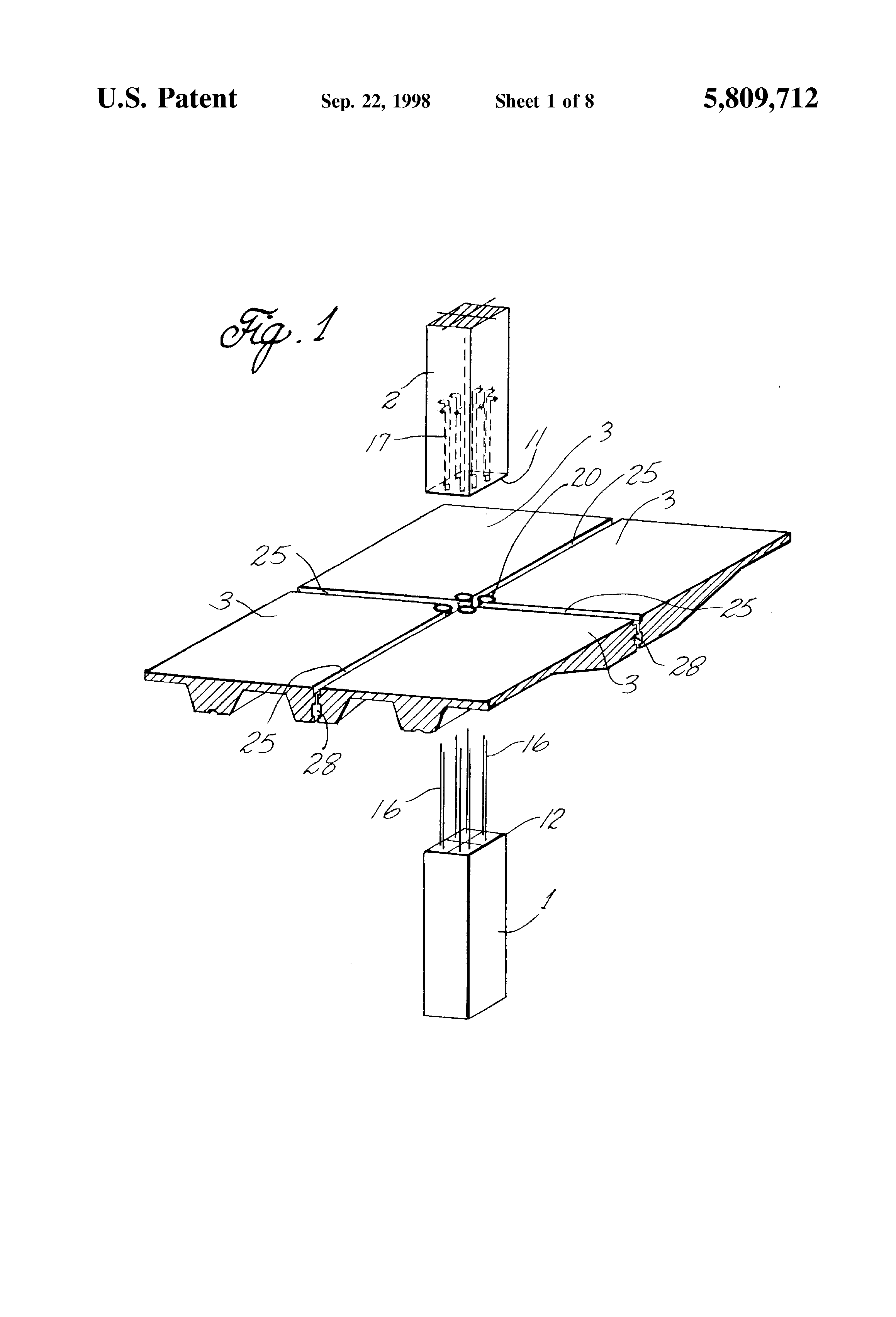 Patent us5809712 system for joining precast concrete for Barometric pressure fishing cheat sheet