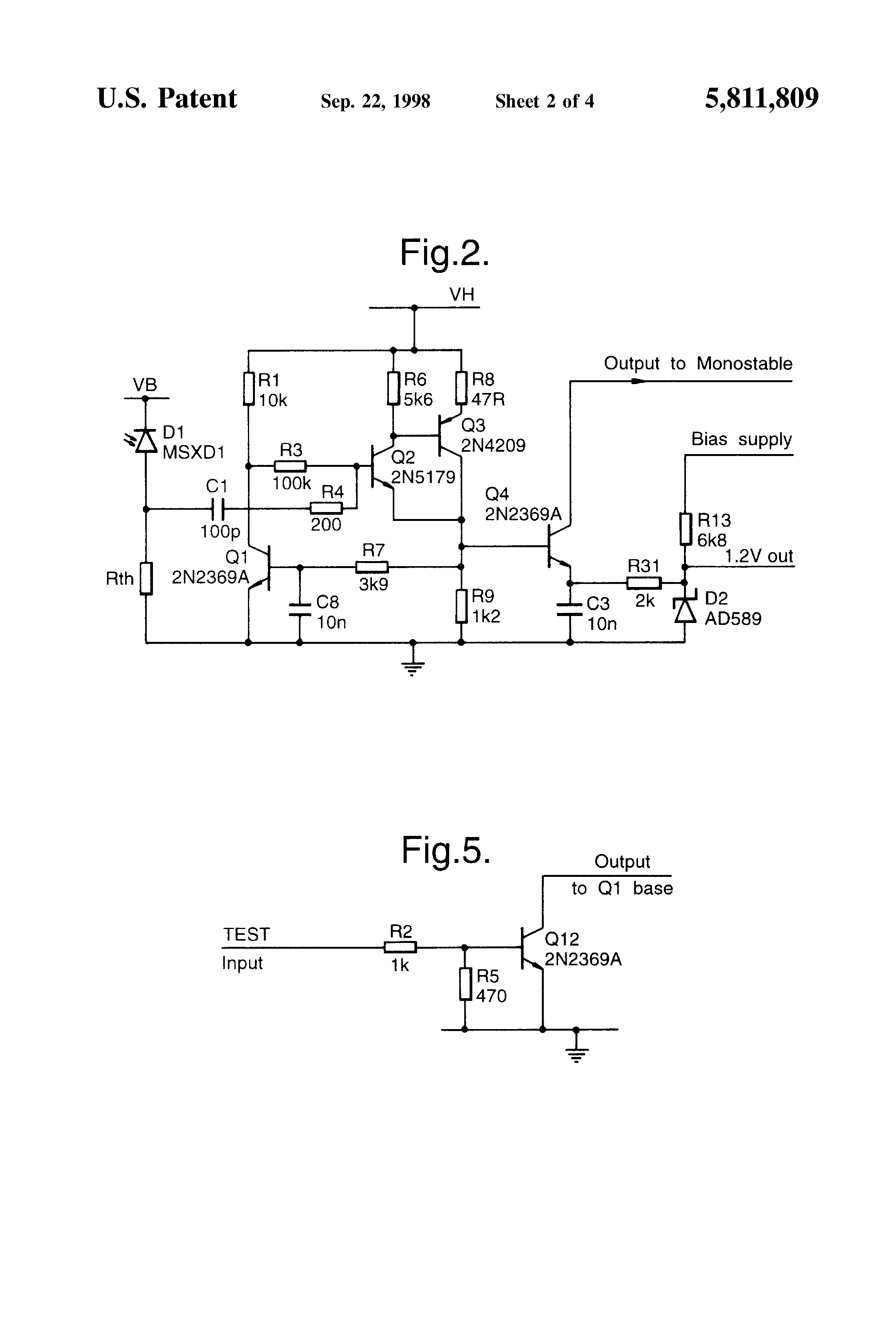 Threshold Detector Circuit Sensor Page 13 Sensors Detectors Circuits Nextgr Patent Us5811809 Nuclear Event And