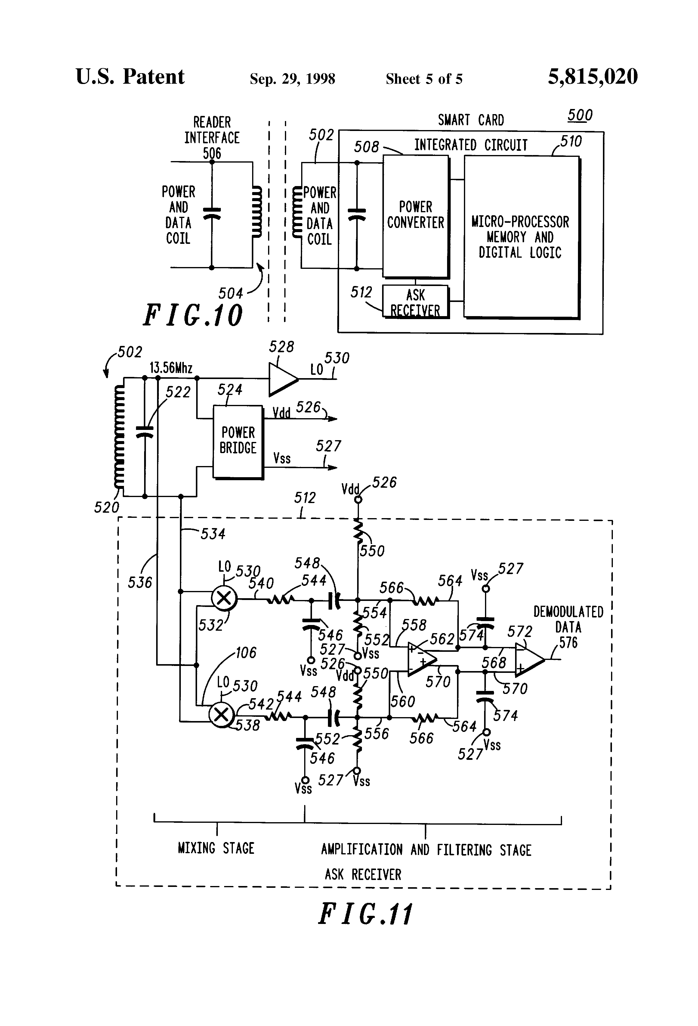 patent us5815020 - balance differential receiver