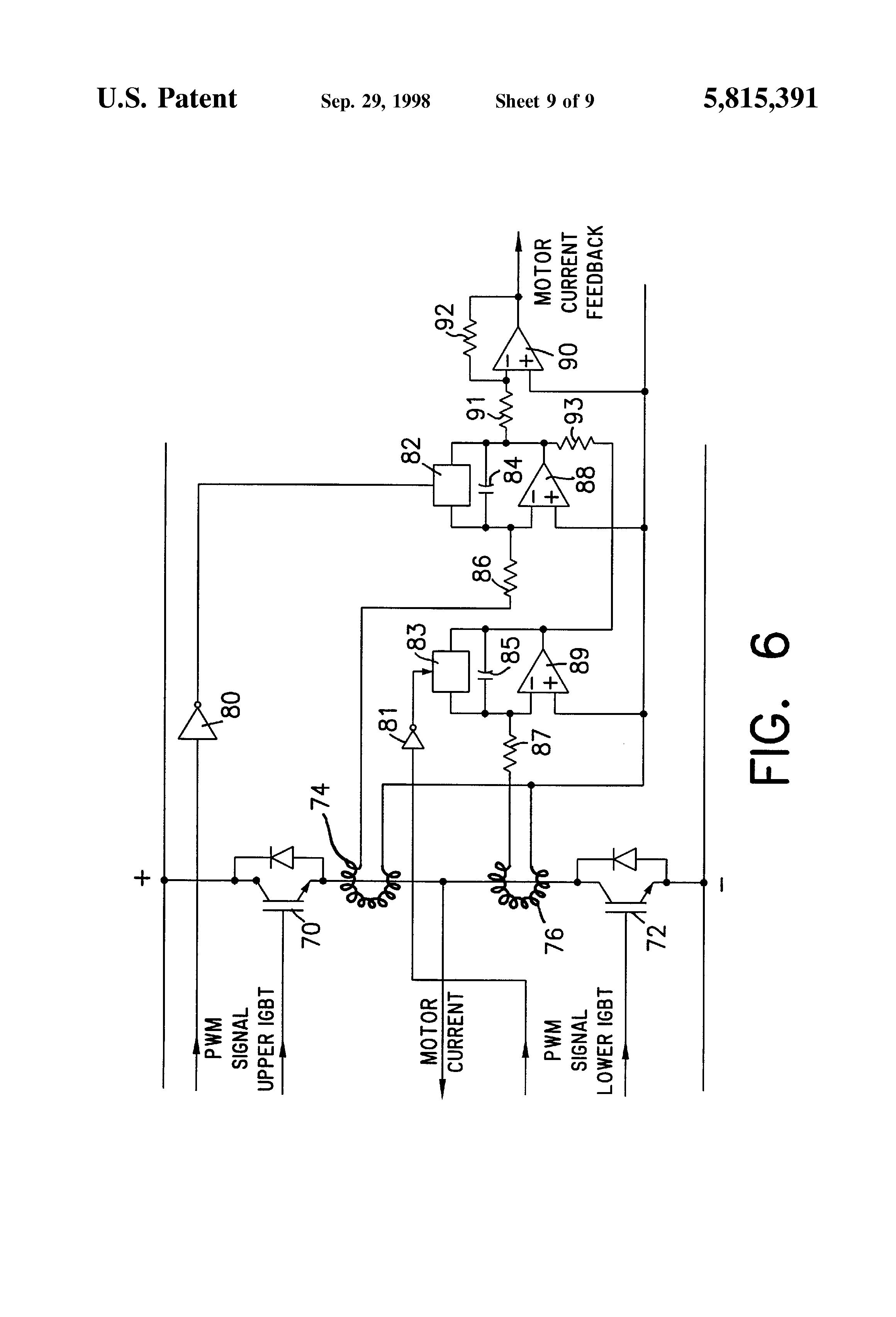 Patente us5815391 current sensing circuit for pulse for Motor current sensing circuit