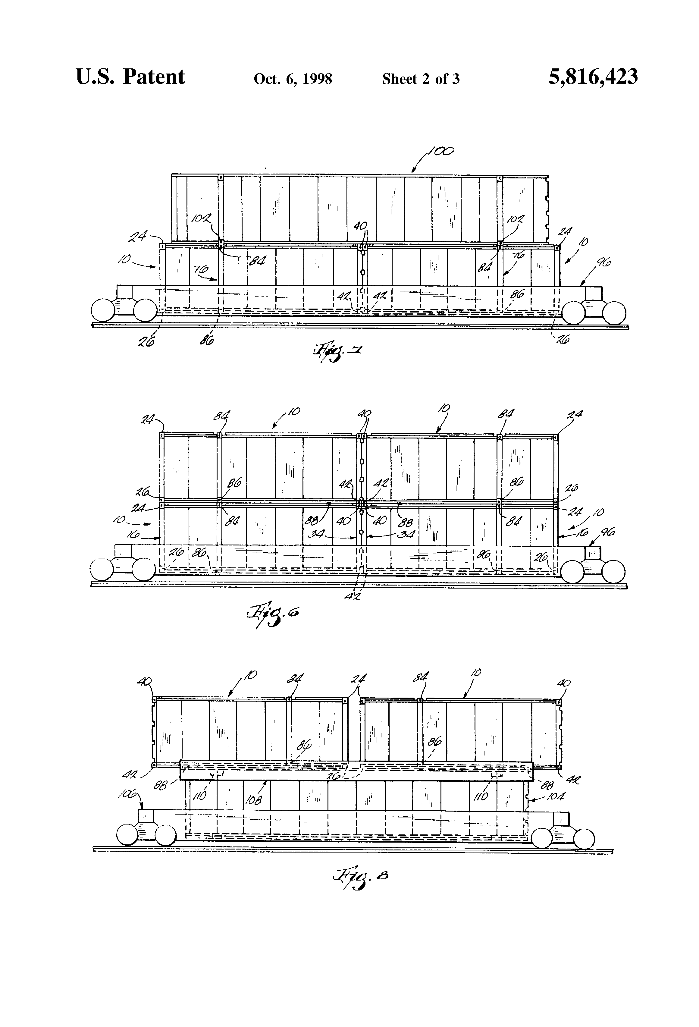patent us intermodal container patents patent drawing
