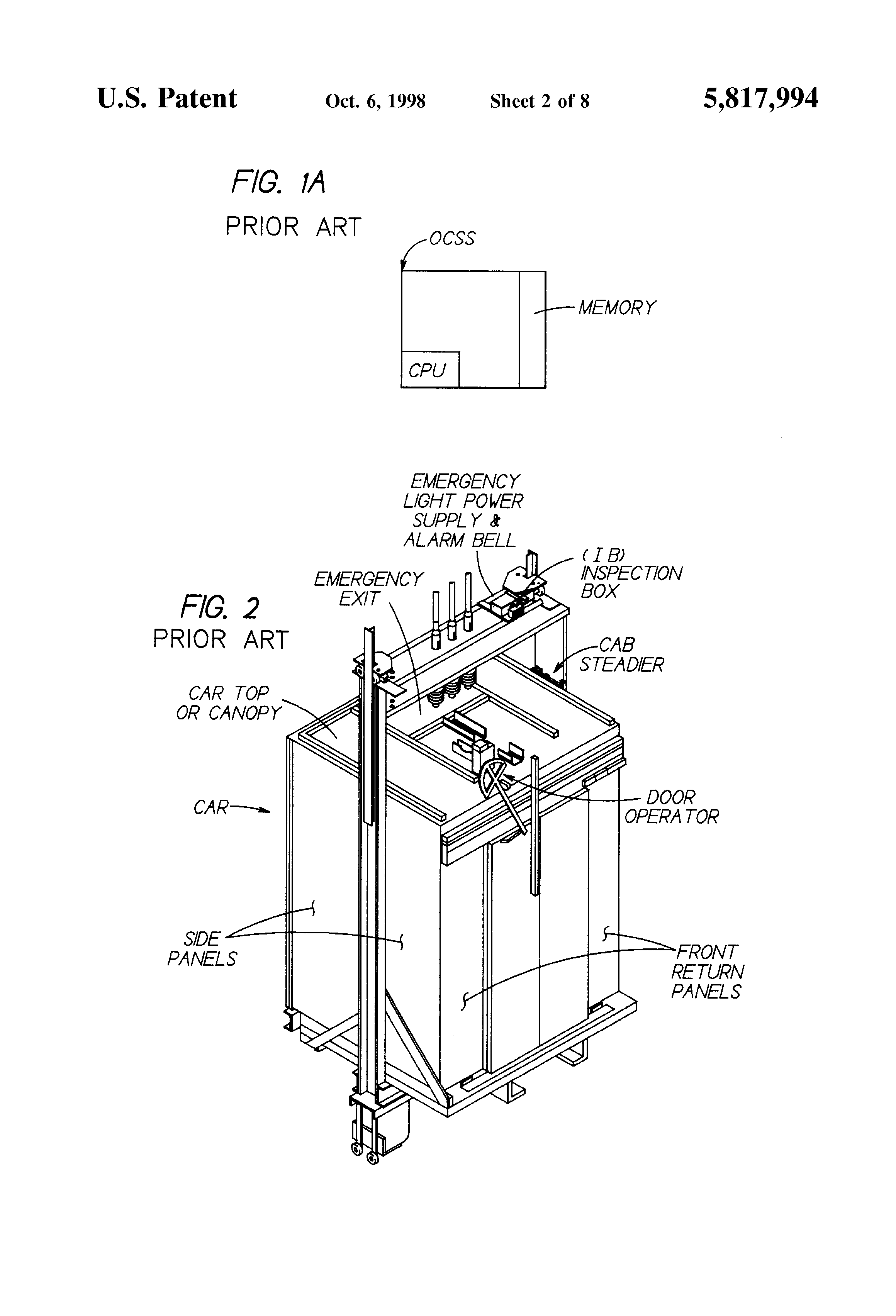 otis elevator wiring diagram patent us5817994 remote fail safe control for    elevator     patent us5817994 remote fail safe control for    elevator