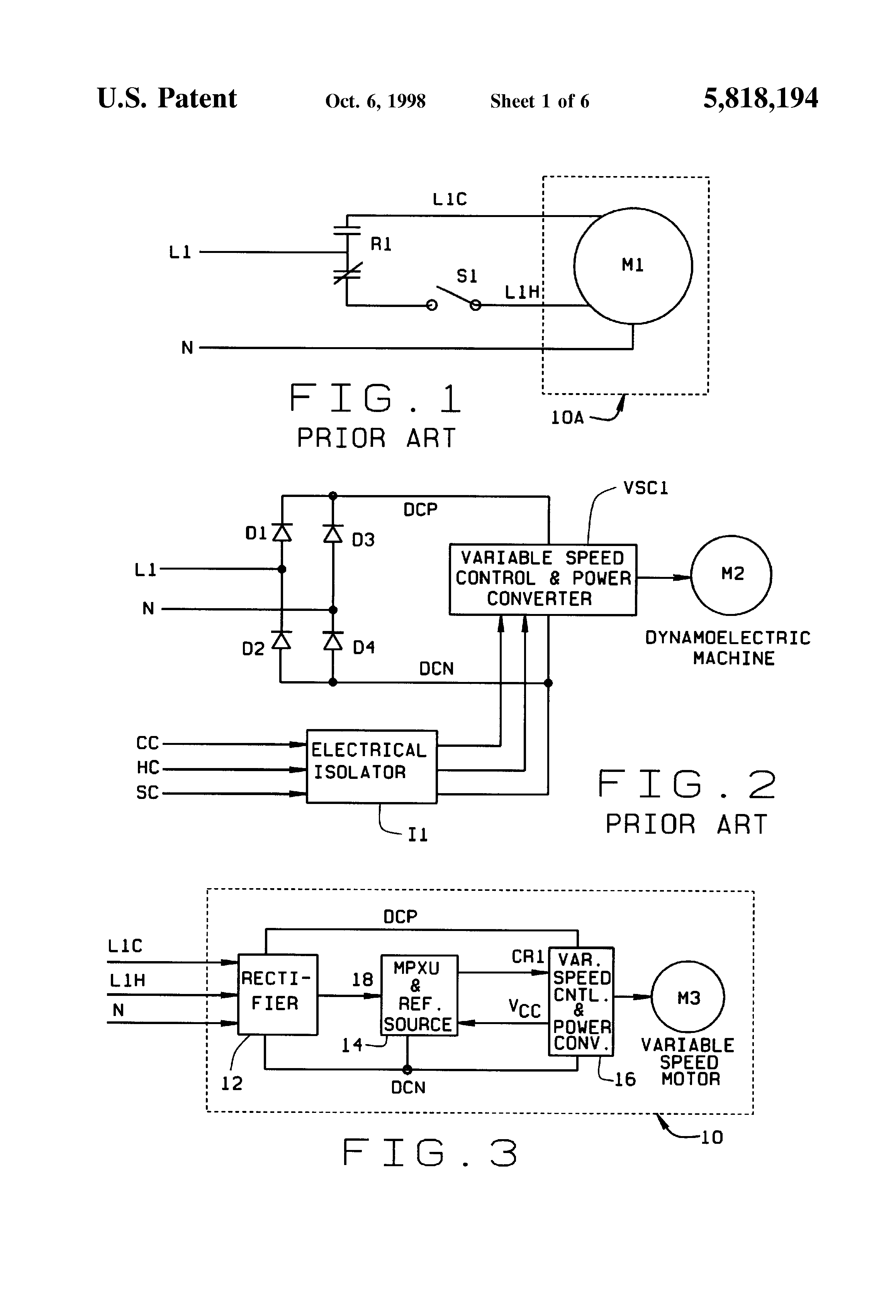 US5818194 1 patent us5818194 direct replacement variable speed blower motor nidec motor wiring diagram at gsmx.co
