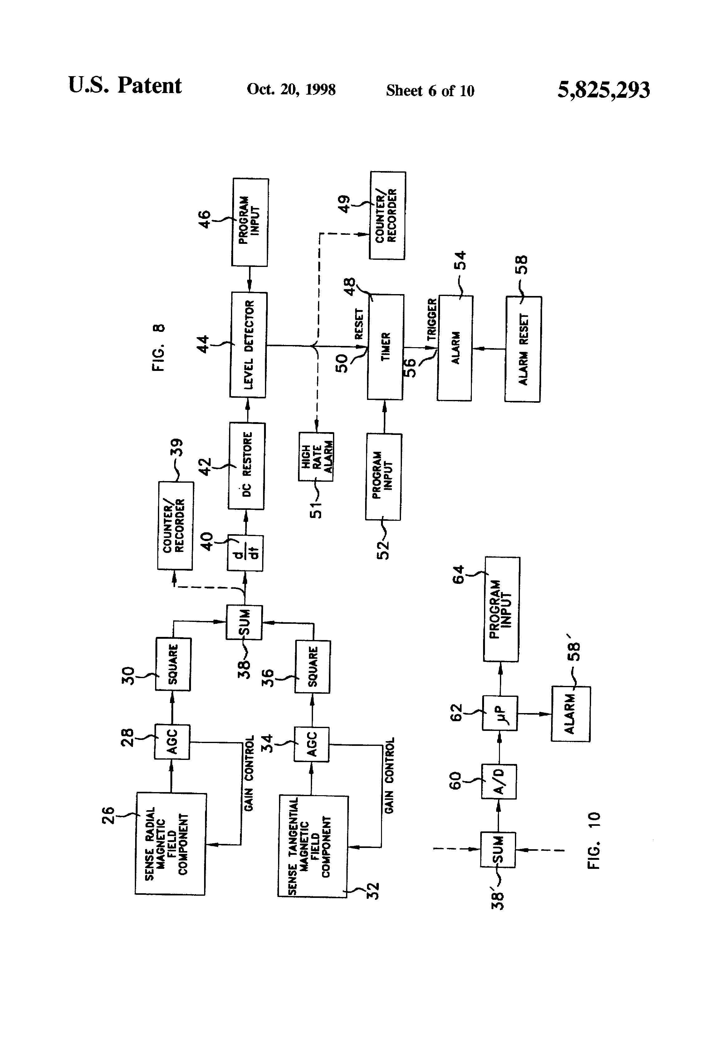 Patent Us5825293 Apparatus And Method For Monitoring Breathing Led Circuit Diagram Drawing