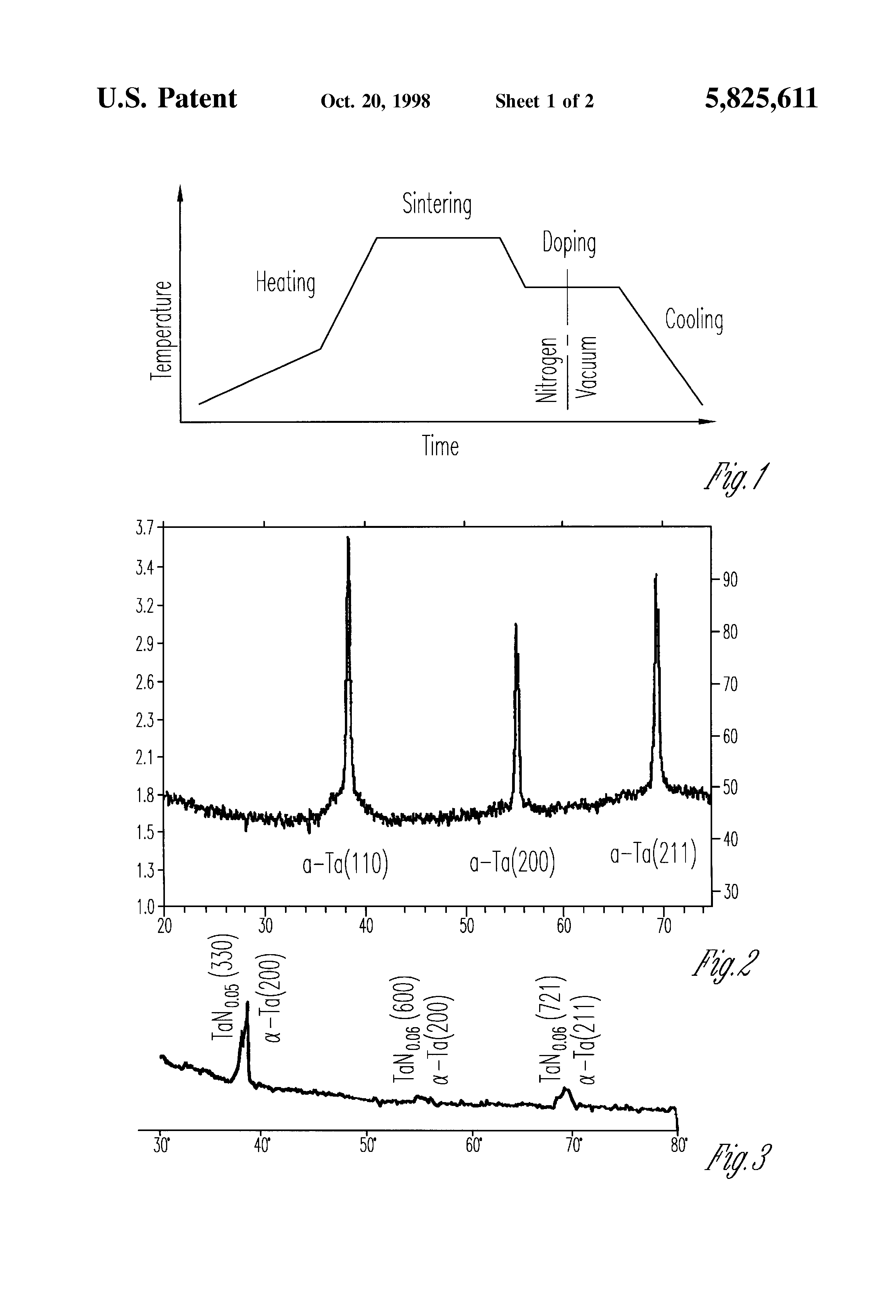 Patent Us5825611 Doped Sintered Tantalum Pellets With Nitrogen In Multiple Anode Capacitor Drawing
