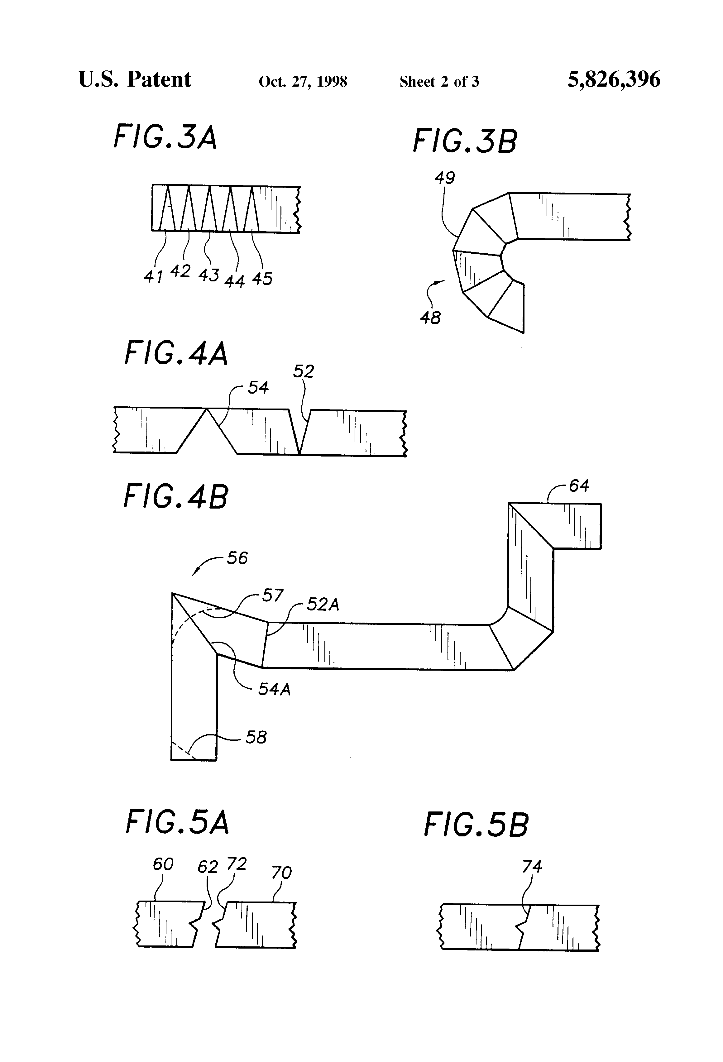 Patent Us5826396 Double Sided Single Pass Grooving Of