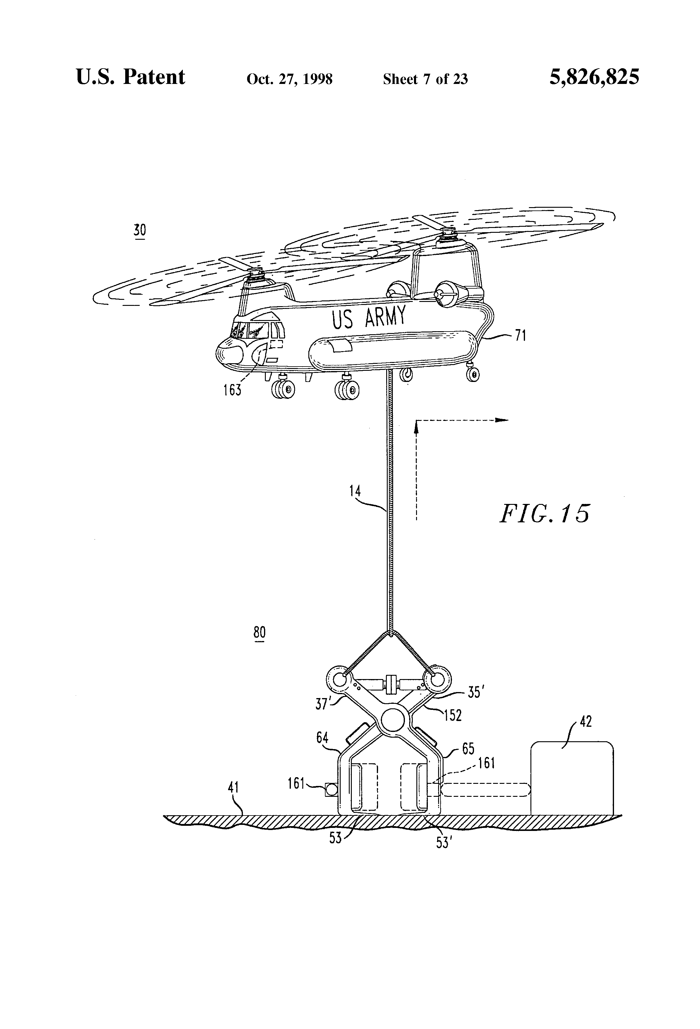 Patente Us5826825 Automatically Actuated Cargo And Personnel Opt301 Laser Receiver Patent Drawing