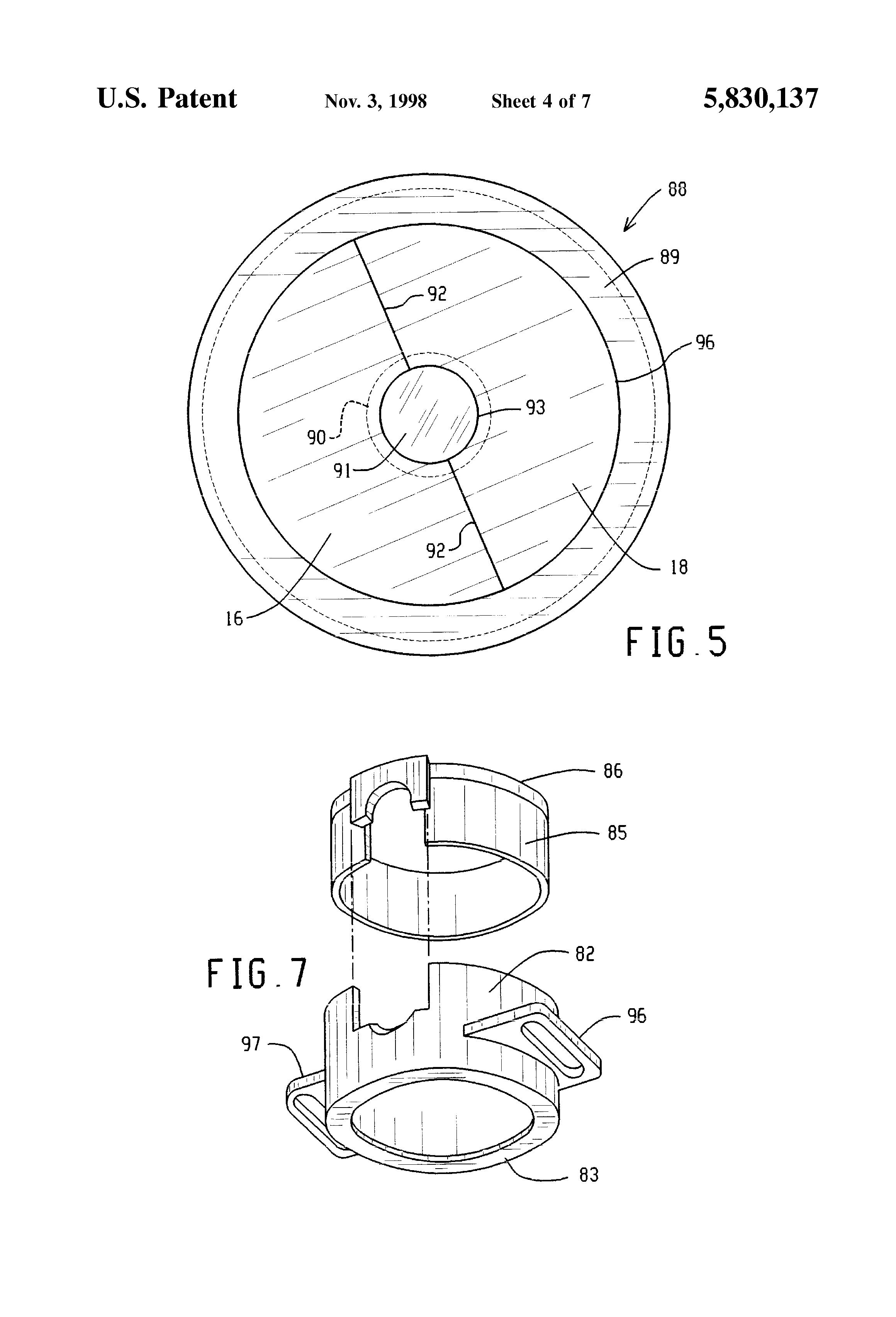 patent us5830137 - green light pulse oximeter