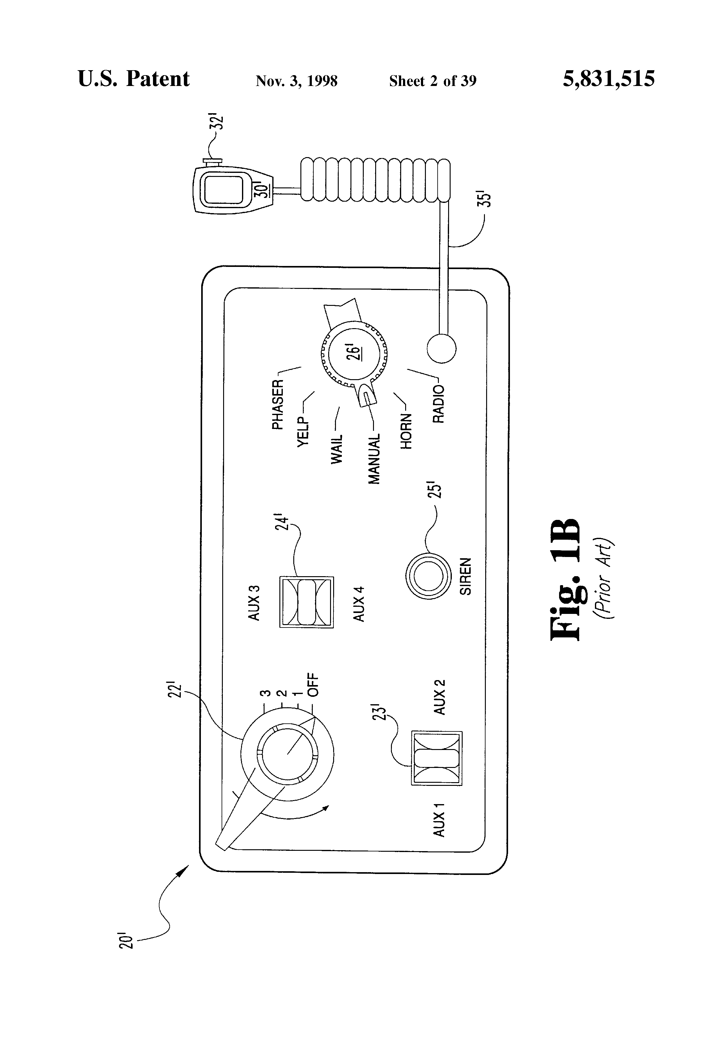 Patent Us5831515 Electronic Siren Apparatus Including An Microphone Amplifier Circuit Diagram 1 Speaker Audiocircuit Drawing